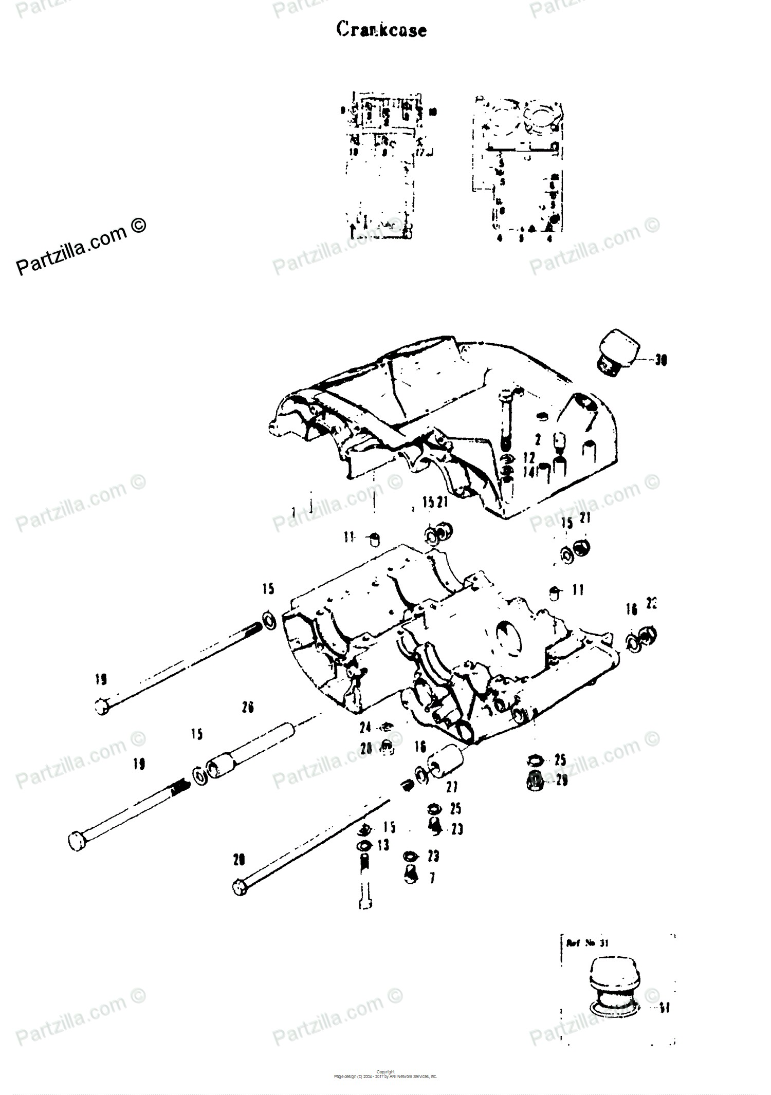 Motorcycle Engine Parts Diagram Suzuki 1969 Oem Together With For Crankcase Partzilla Of