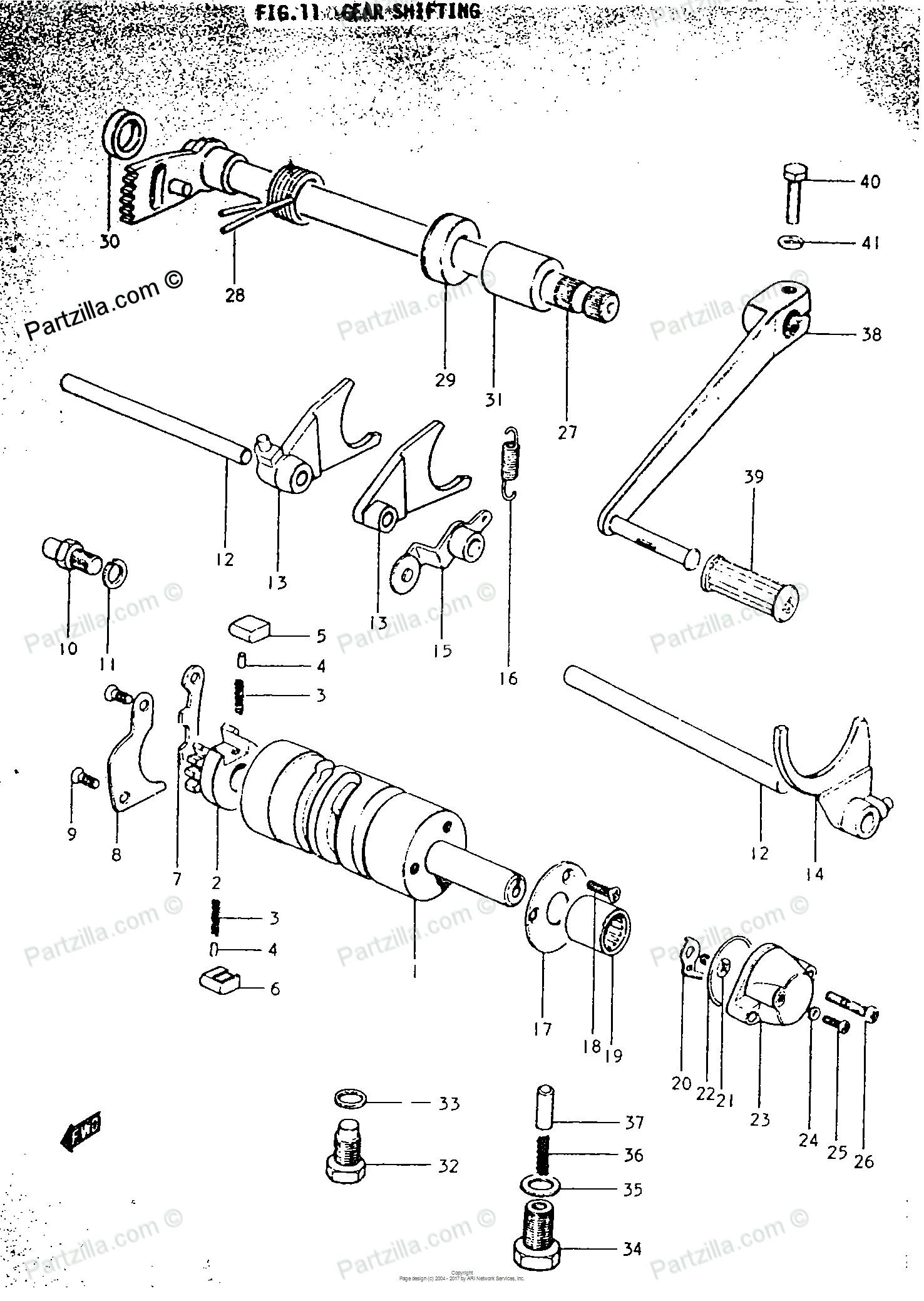 Motorcycle Engine Parts Diagram 50cc Mini Chopper Custom Wiring Suzuki 1969 Oem For Gear Shifting Of