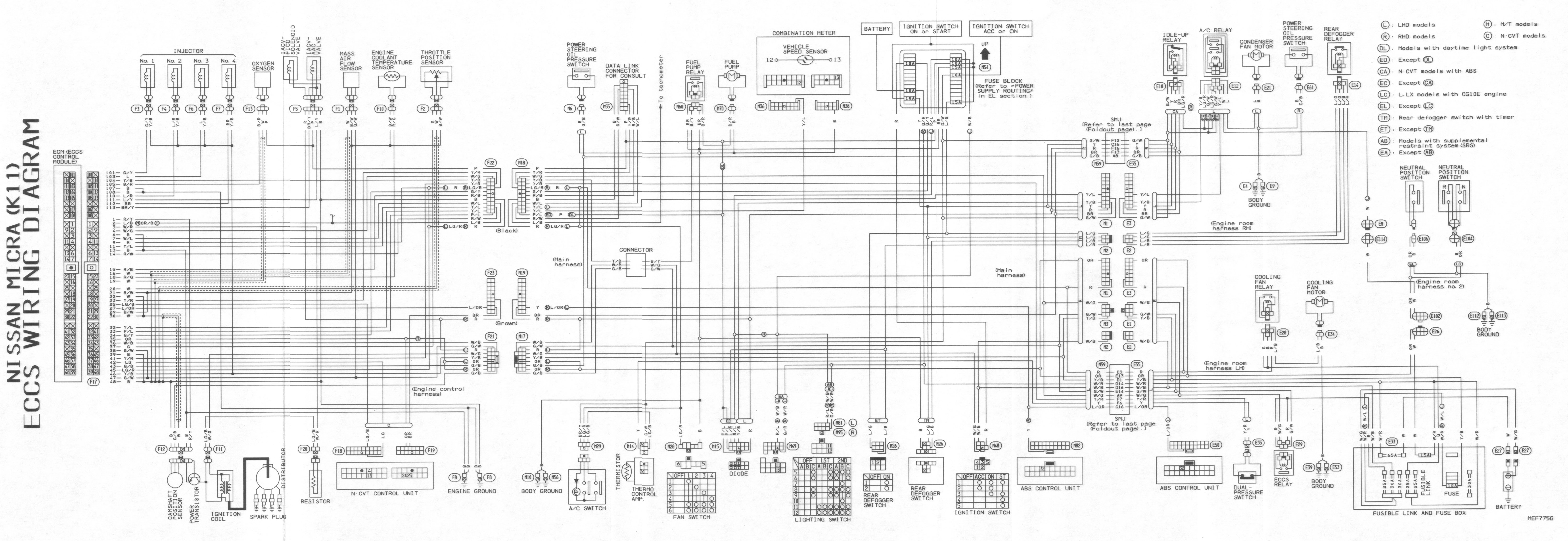 Nissan Micra Wiring Diagram Free Trusted Diagrams 91 Sentra Picture And Schematics Rh Rivcas Org Electrical
