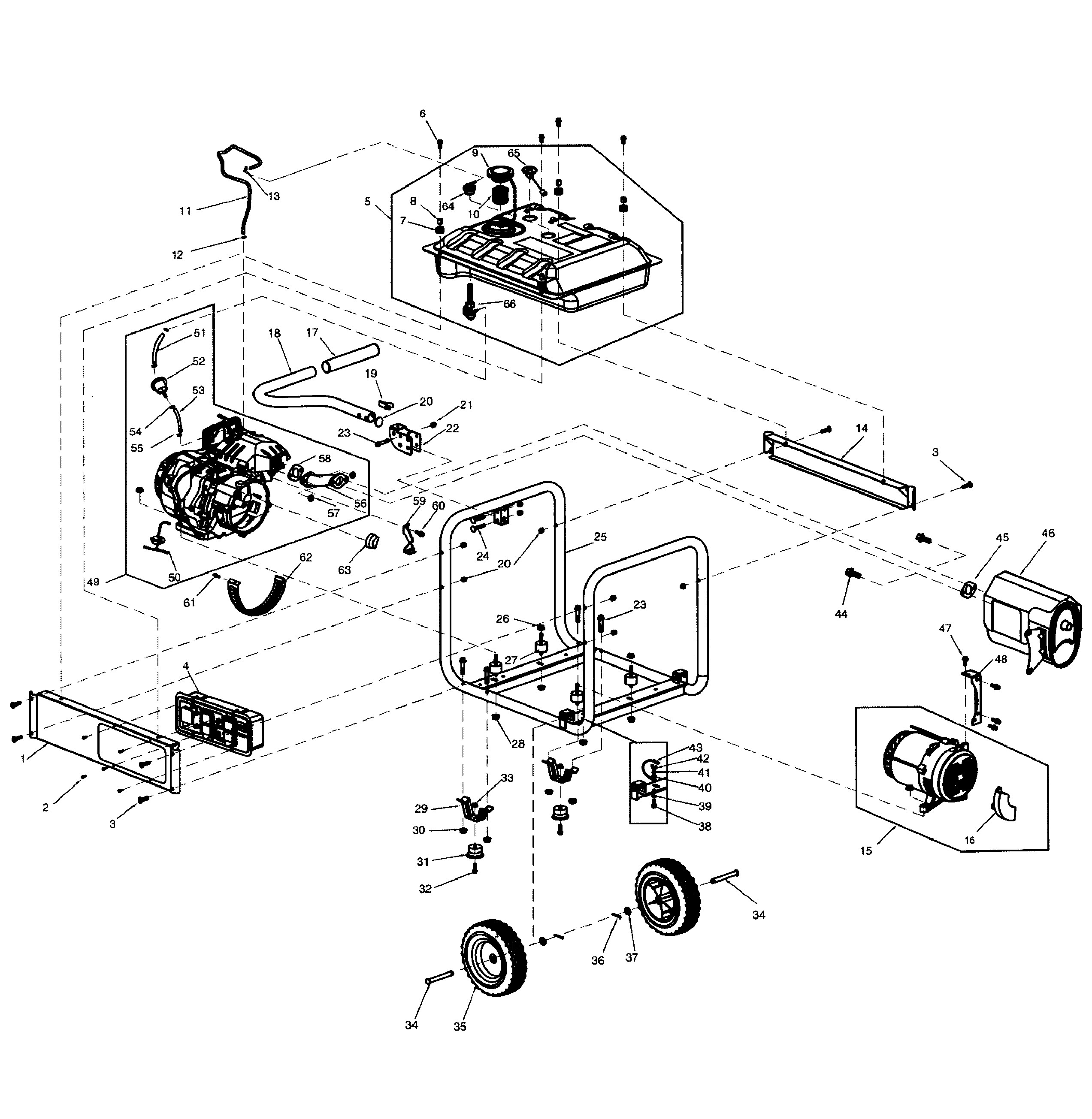 Onan Engine Parts Diagram Generac Model Gp5500 5939 6 Generator Genuine Parts Of Onan Engine Parts Diagram