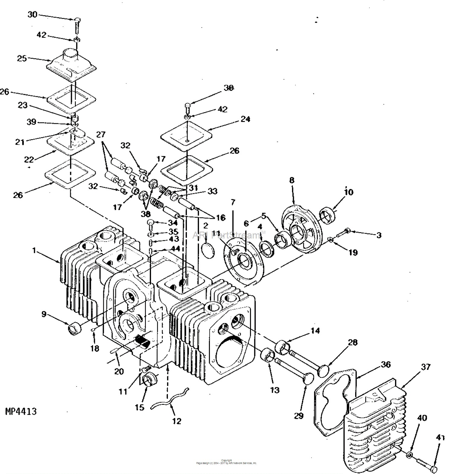 Onan Engine Parts Diagram John Deere Parts Diagrams John Deere 317  Hydrostatic Tractor 17 Hp Of