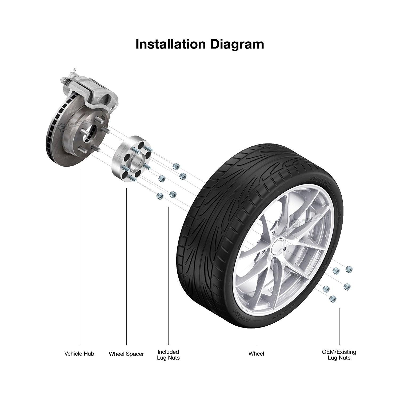 Parts Of A Car Wheel Diagram Amazon 2 50mm 2\