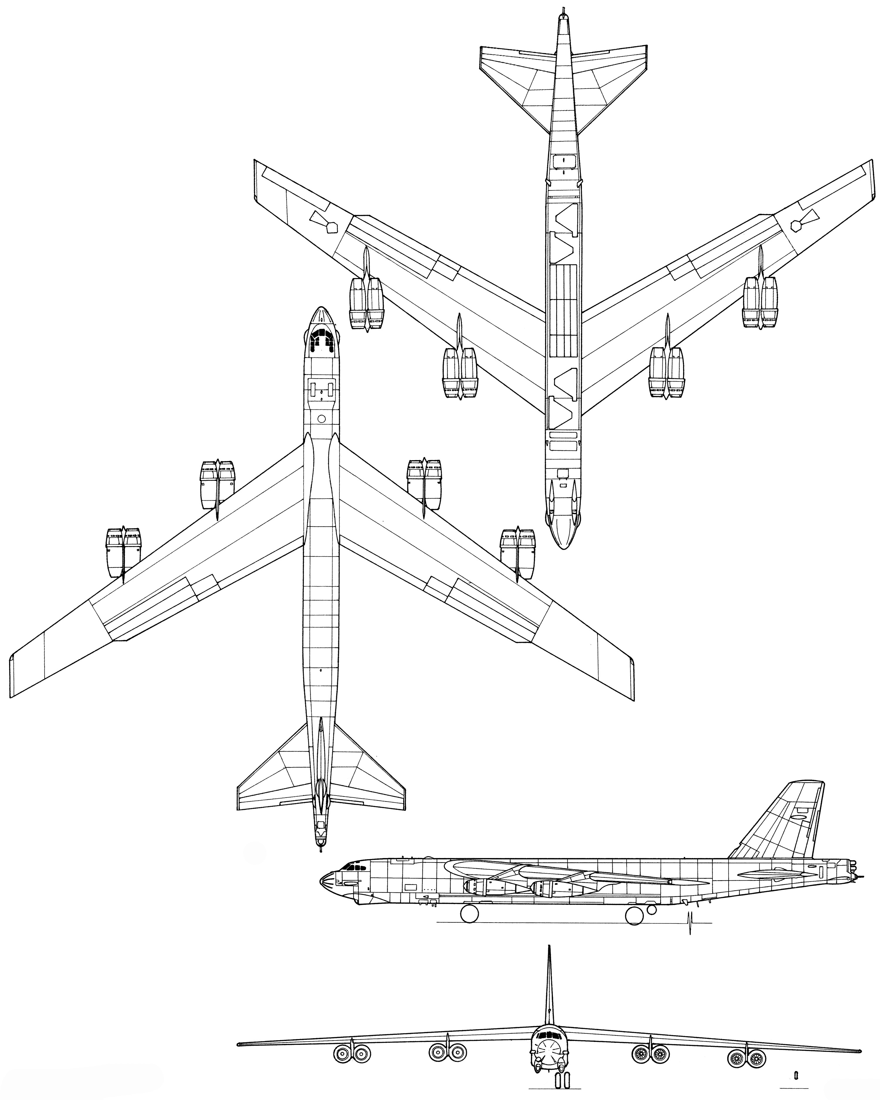 Plane Engine Diagram Boeing B 52 Stratofortress Blueprint Download Free Blueprint for Of Plane Engine Diagram