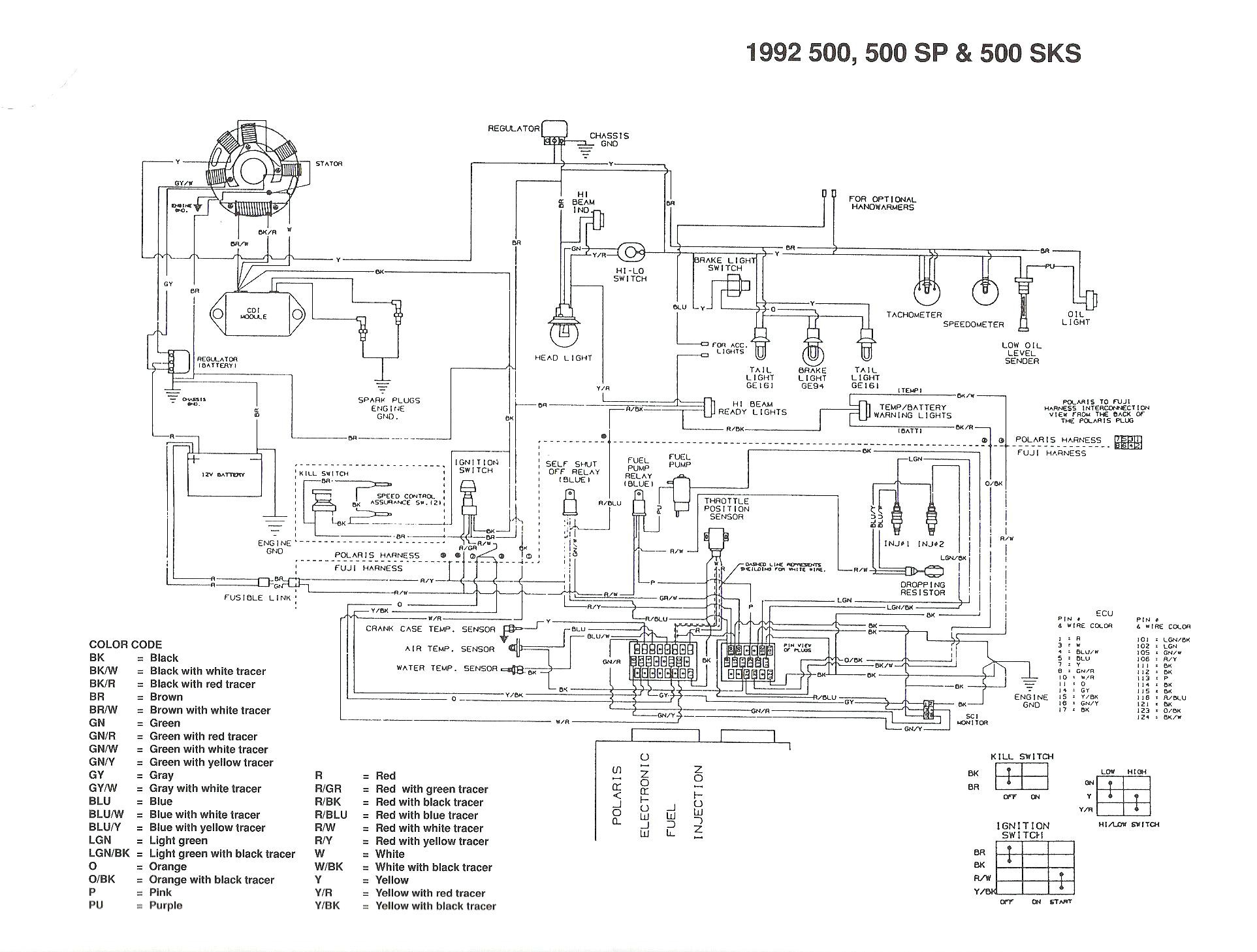 Polaris Predator 500 Engine Diagram Polaris Predator 500 Wiring Diagram 2003 Schematic 03 Sportsman Of Polaris Predator 500 Engine Diagram