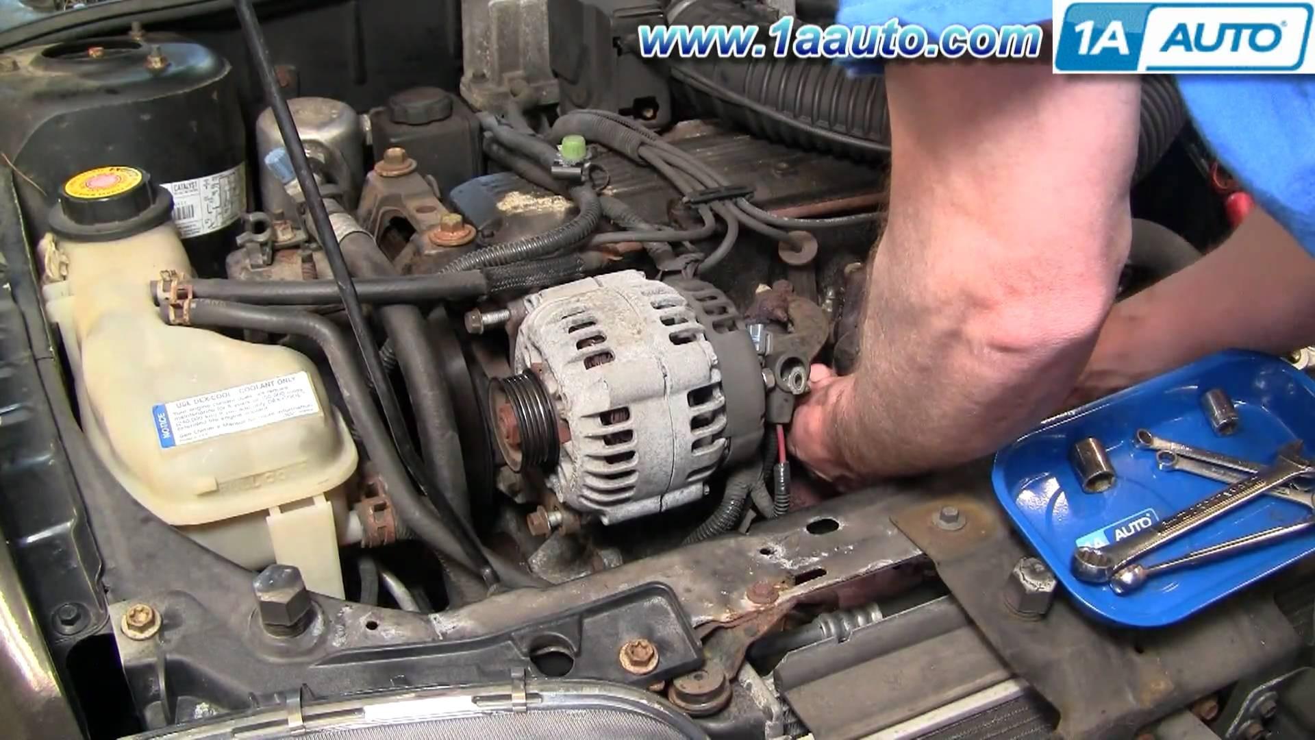 Pontiac Sunfire Engine Diagram How To Install Replace Alternator 2 Cavalier 2l 95 05 1aauto