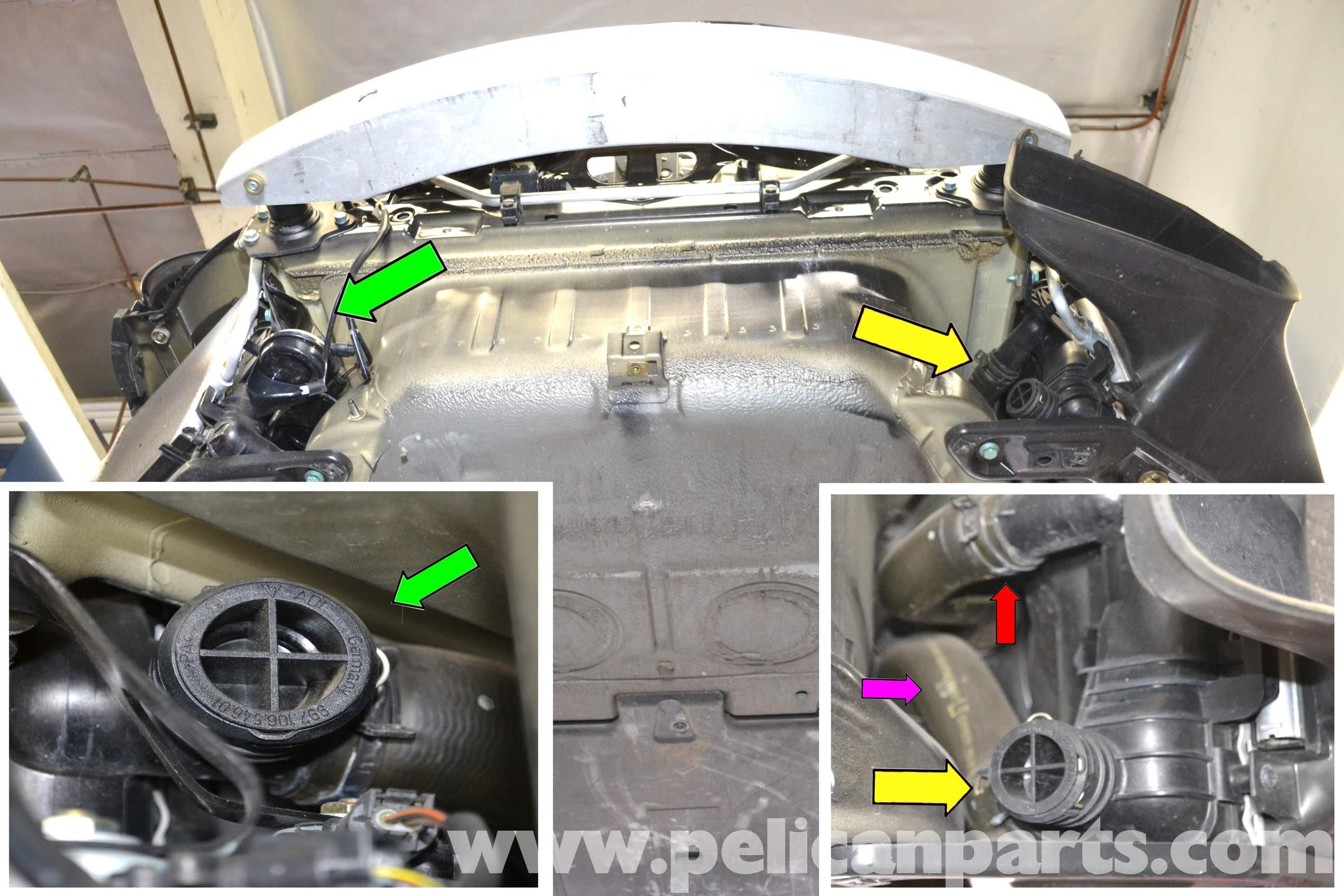 Porsche 996 Engine Diagram 911 Carrera Coolant Hose 997 Center Radiator Installation 1998 2005 Of