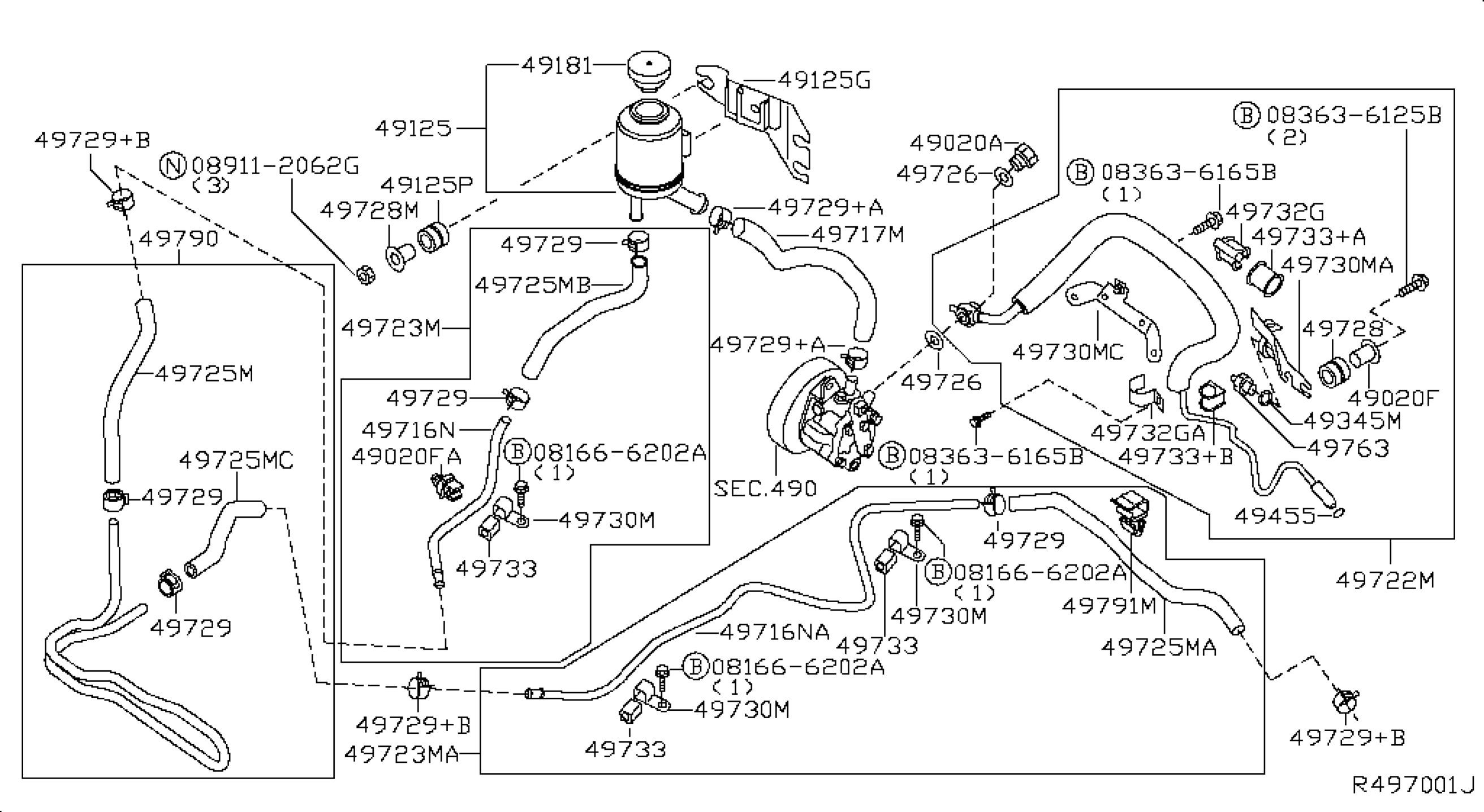 Power Steering Parts Diagram Cub Cadet Diagrams 126 Wiring 2005 Nissan Altima Sedan Oem Nemet Motors Of