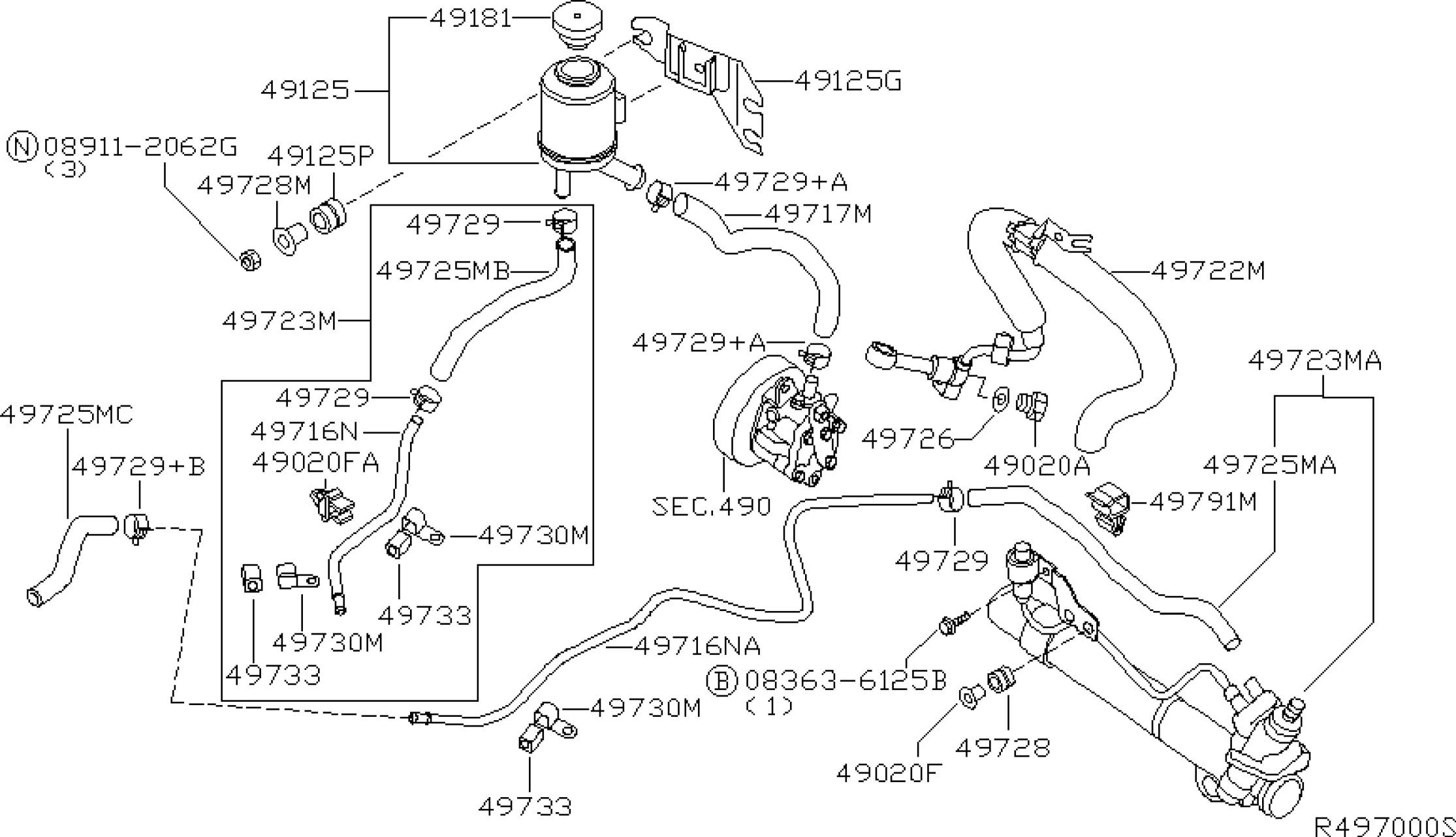 Power Steering Parts Diagram Cub Cadet Diagrams 126 Wiring 2005 Nissan Altima Sedan Oem Usa Estore Of