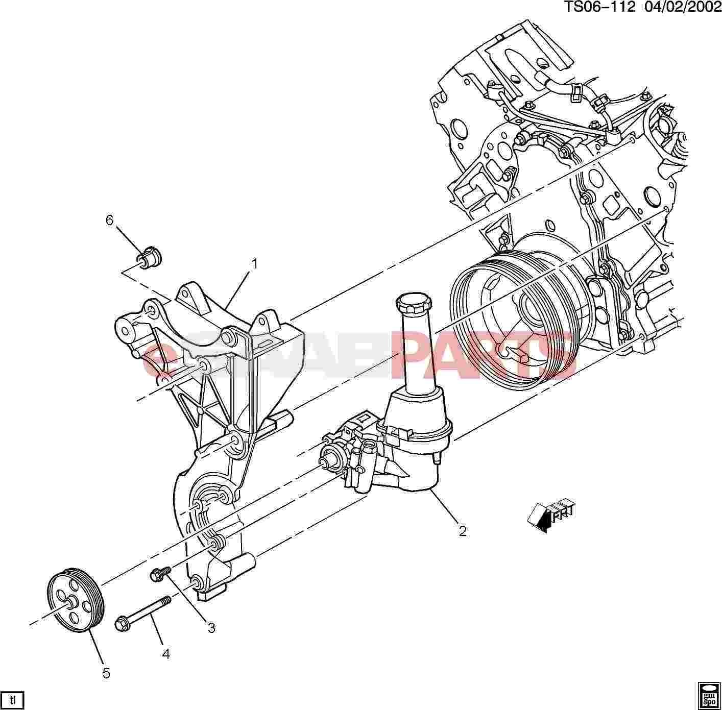 power steering pump diagram