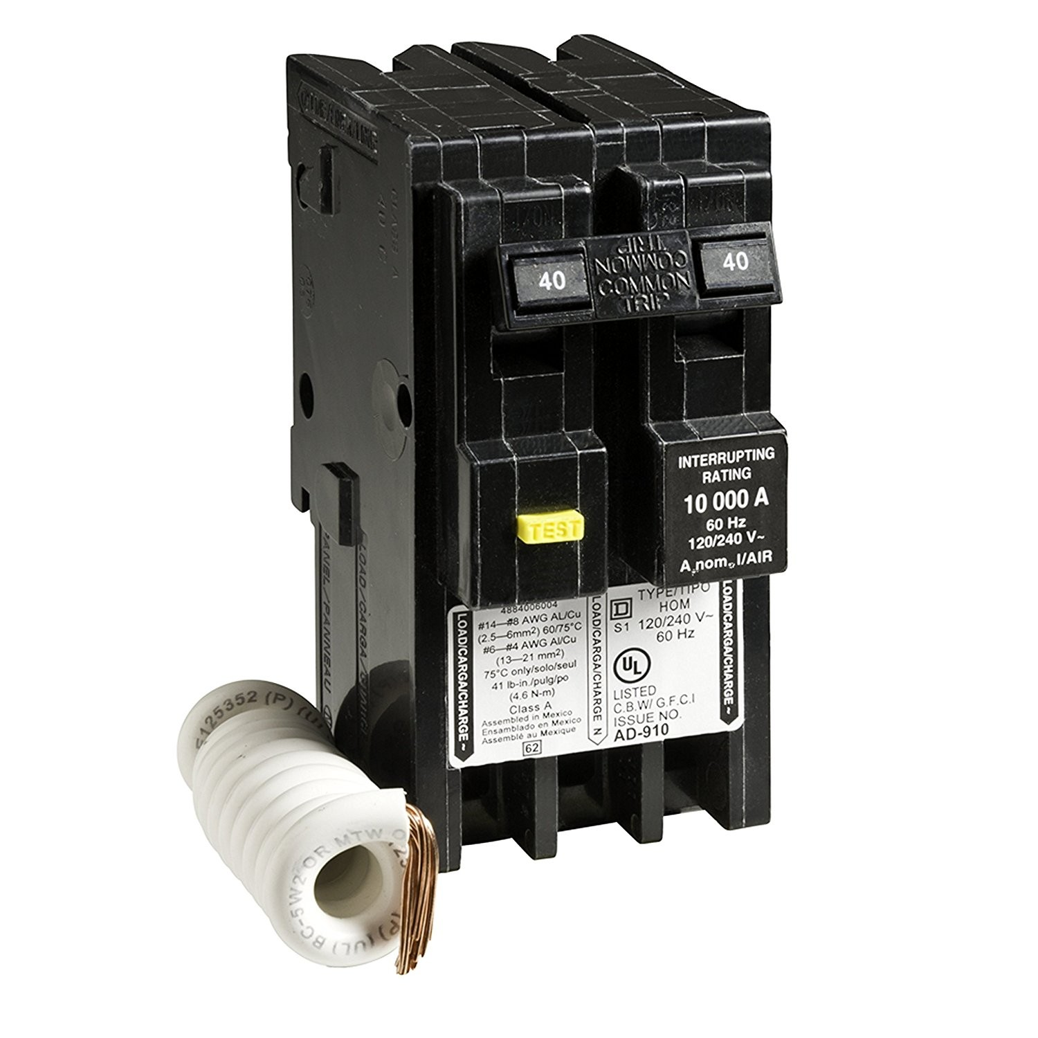 Qo Load Center Wiring Diagram My Electrical Diagrams Square D By Schneider Electric Hom240gfic Homeline 40 Amp Two Pole