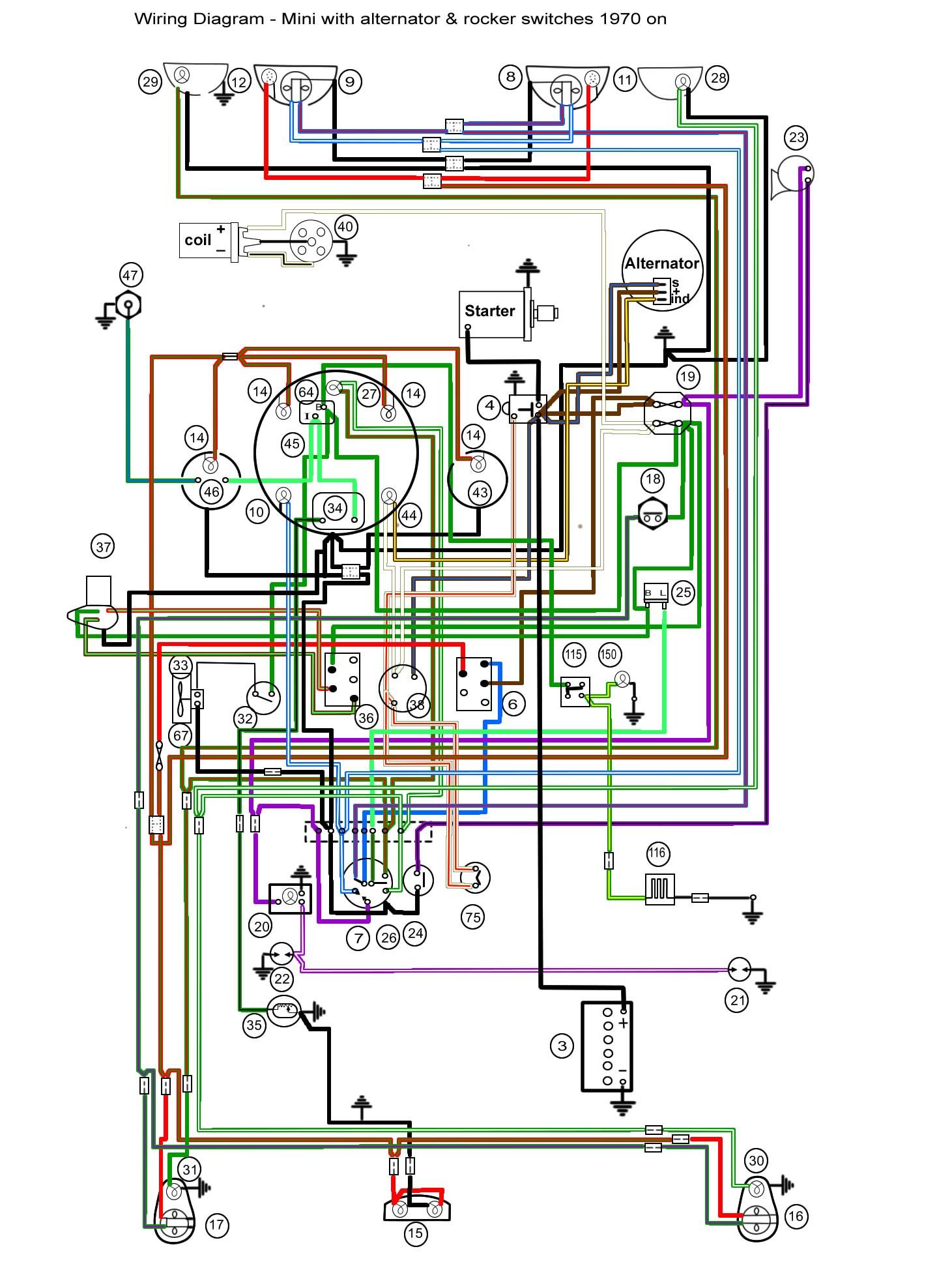 Race Car Wiring Diagram Suzuki Turn Signal Diagrams Rocker Switch Mini Mania Info Of
