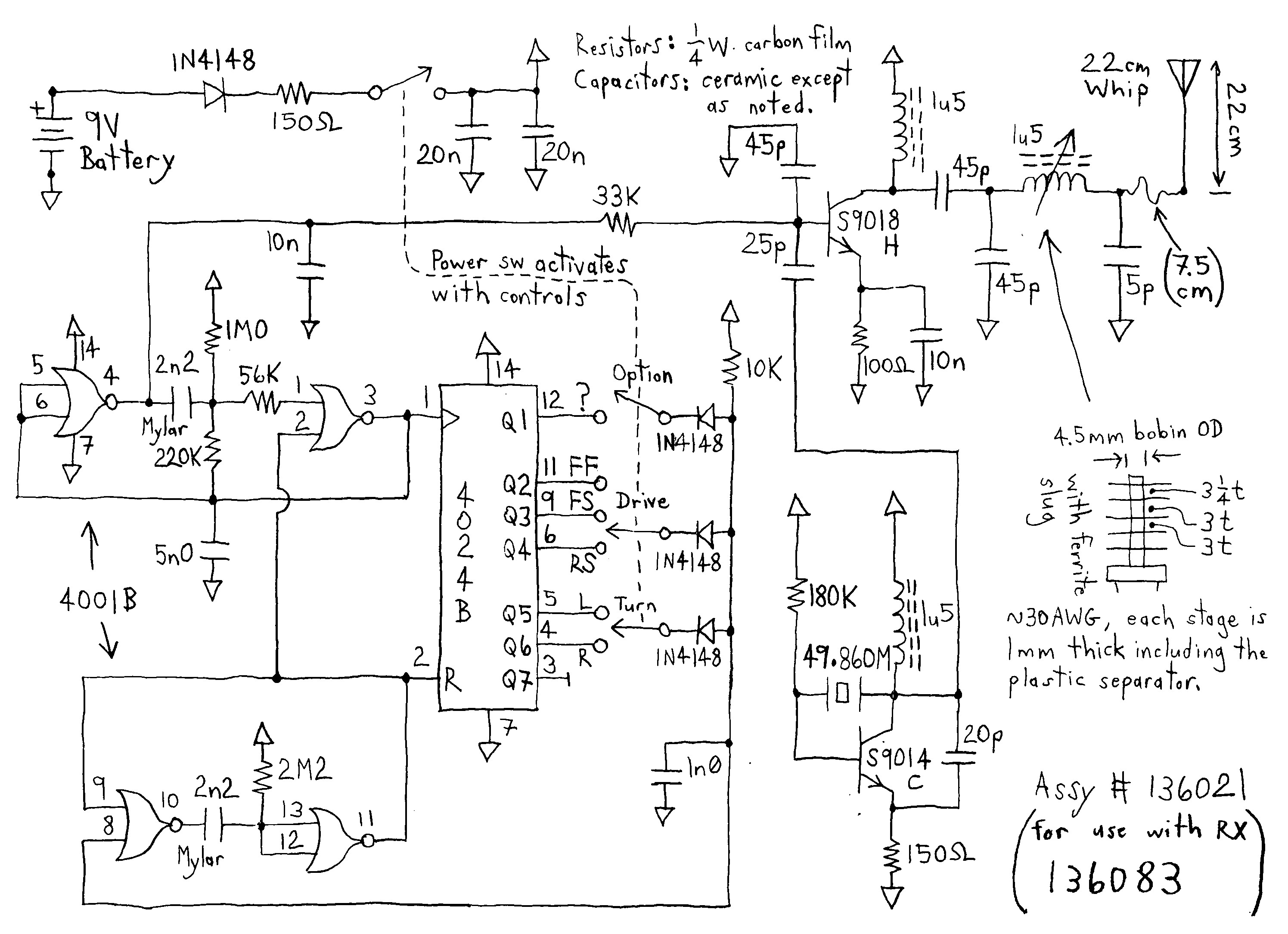 Rc Car Circuit Diagram Four Five Channel Rc Cars Tx and Rx Circuits Using Metal Gate Cmos Of Rc Car Circuit Diagram