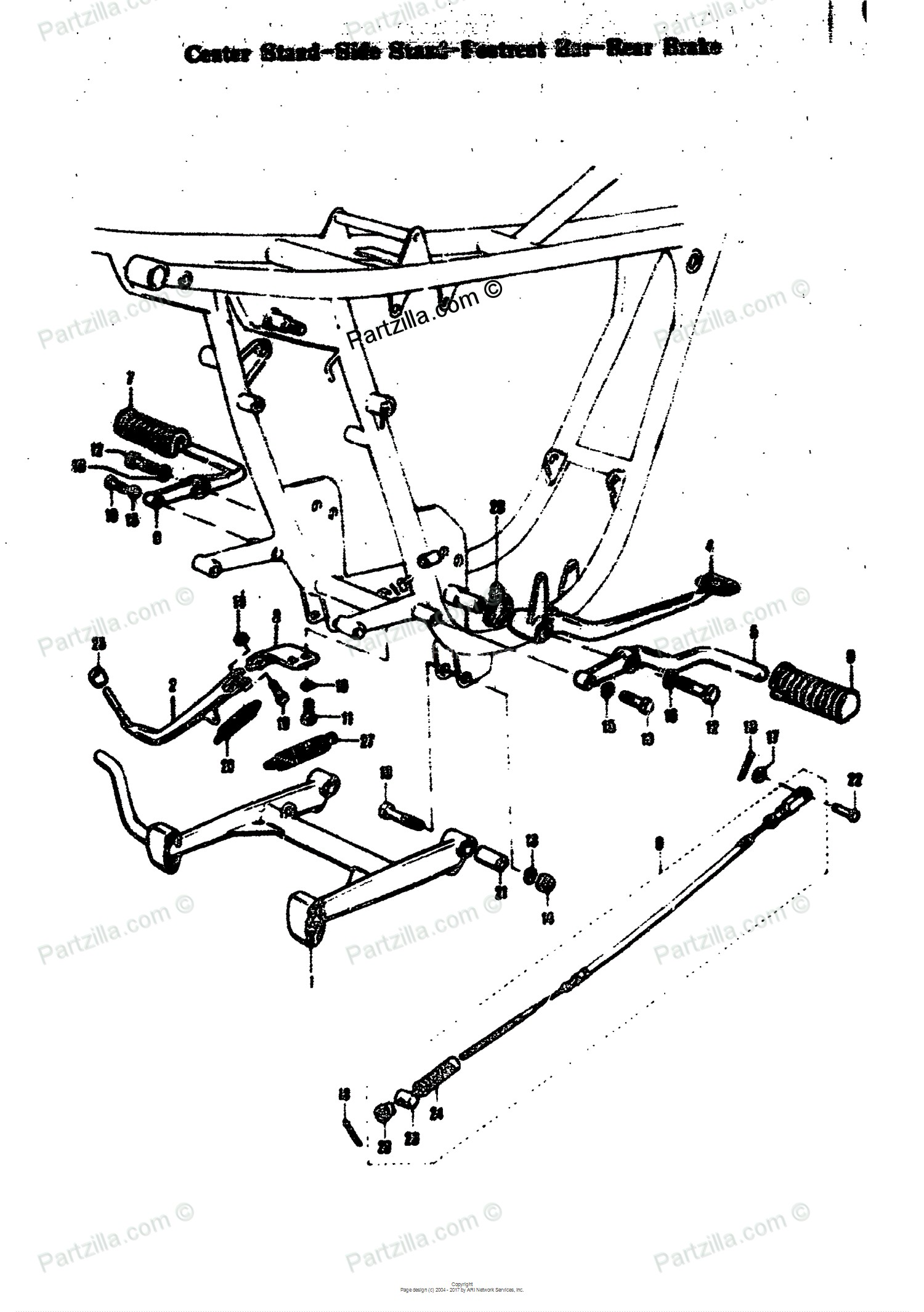 Rear Brake Parts Diagram Suzuki Motorcycle 1969 Oem Parts Diagram for Center Stand Side Stand Of Rear Brake Parts Diagram
