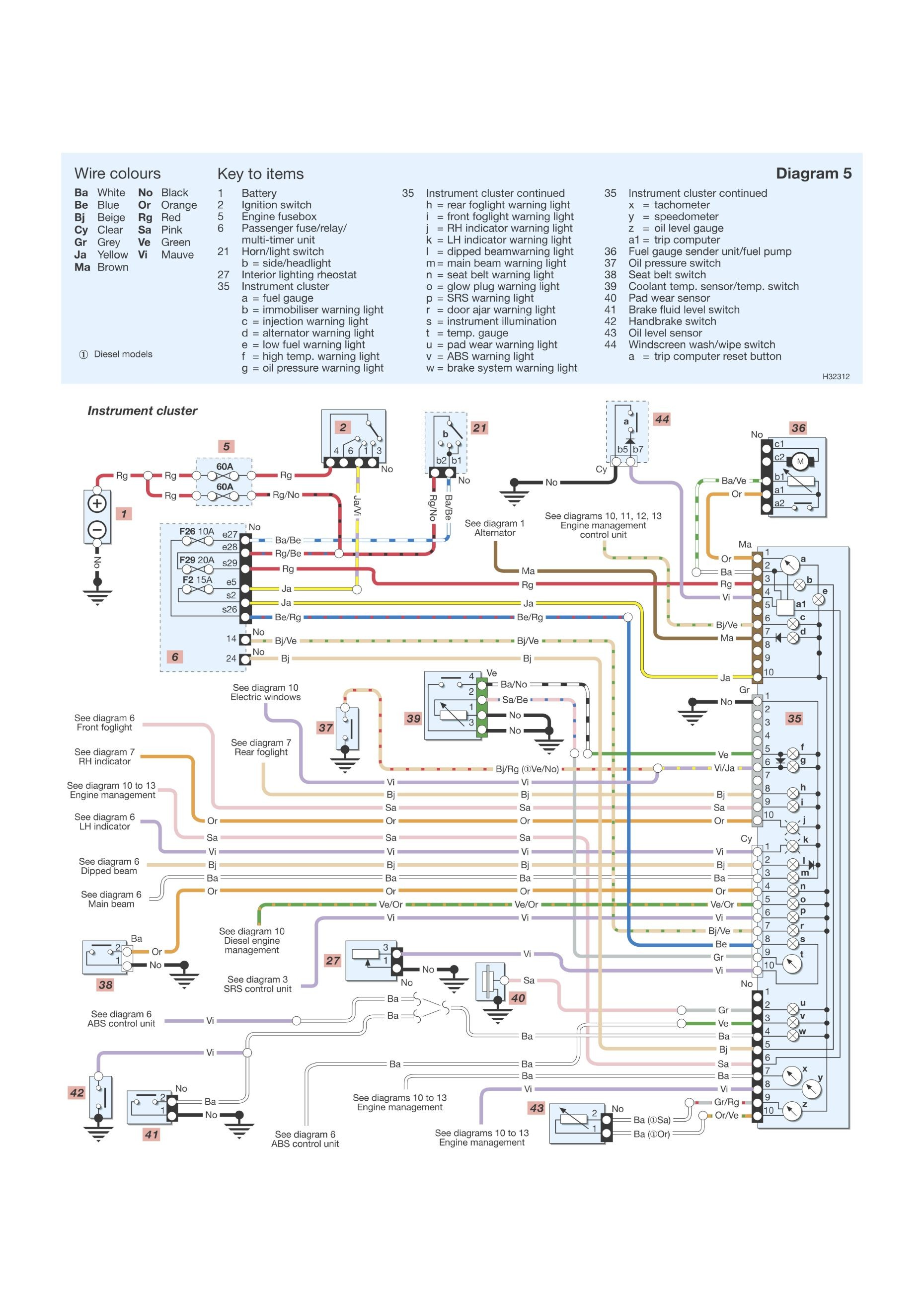 Diagram  Renault Clio 1 4 16v Workshop Wiring Diagram