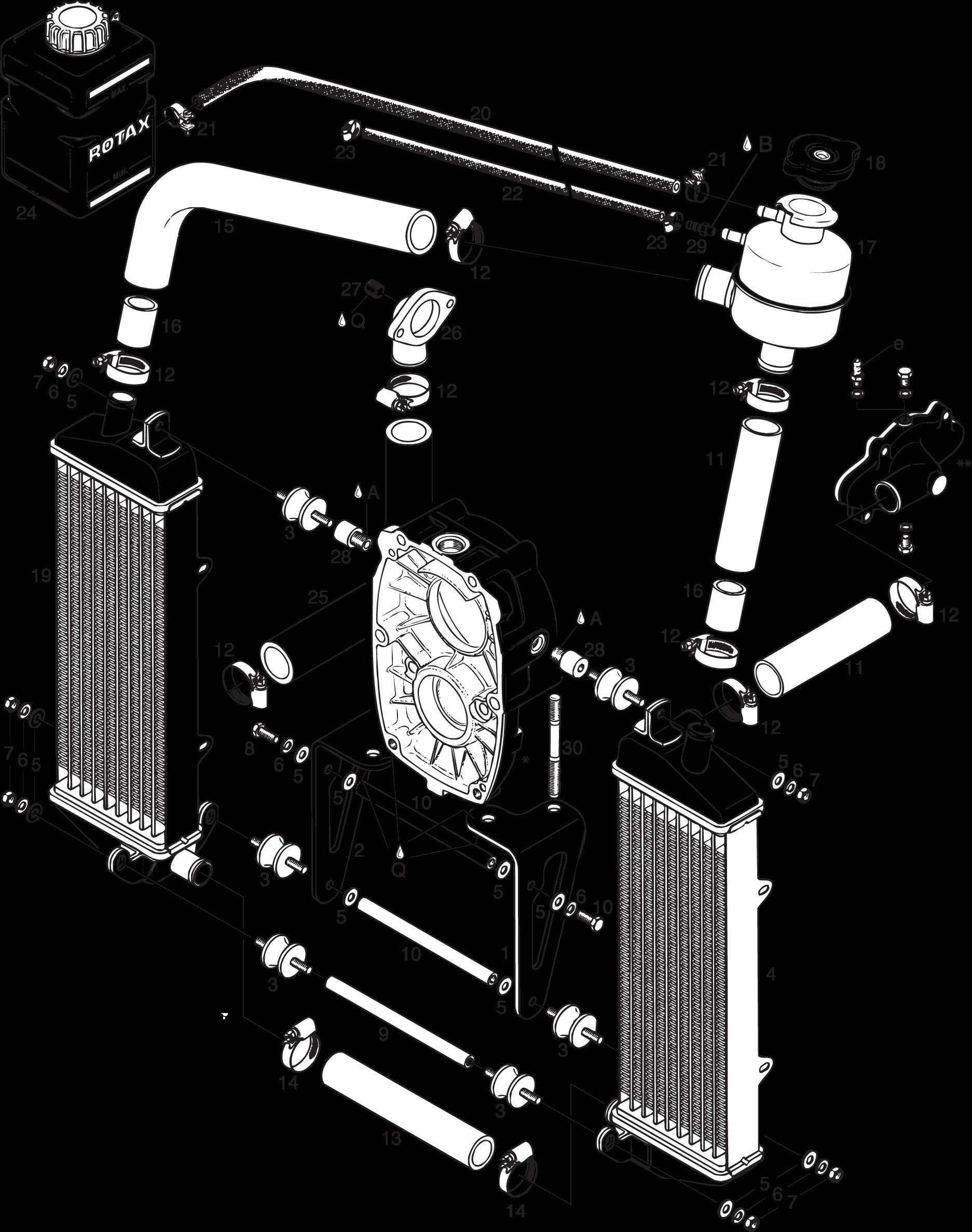 Rotax Engine Diagram 2 Piece Radiator Set for Inverted Engine Installation Rotax 582 Ul Of Rotax Engine Diagram