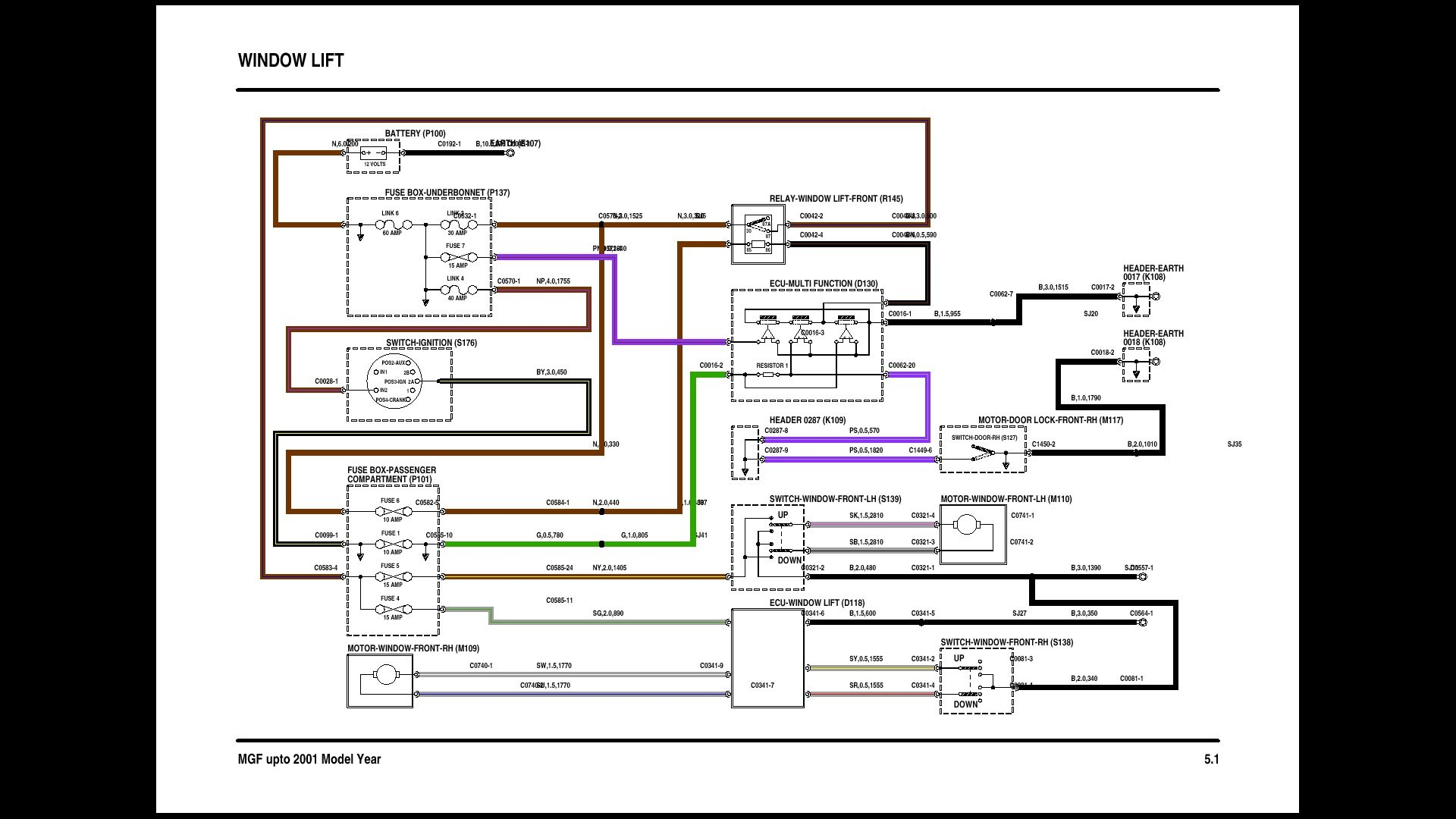 rover 25 horn wiring diagram rover 25 wiper wiring diagram #6