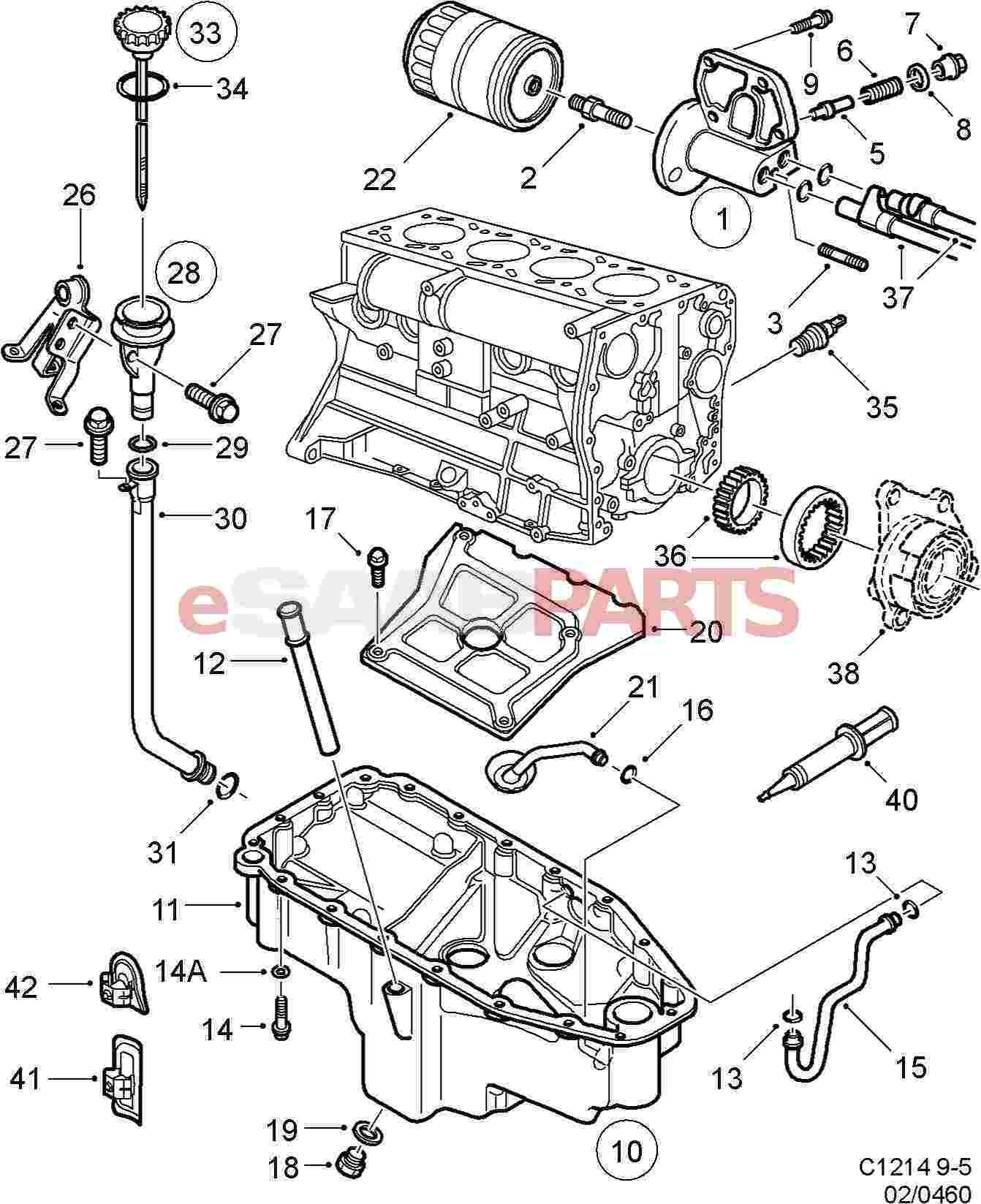 saab 9 5 engine diagram 2 2   saab flange sealant genuine