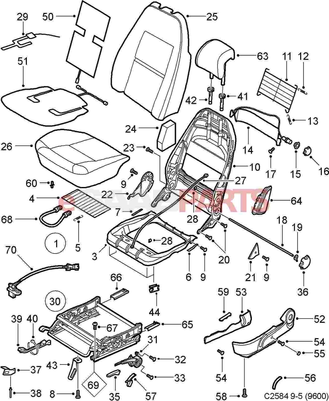 Seat Belt assembly Diagram Esaabparts Of Seat Belt assembly Diagram