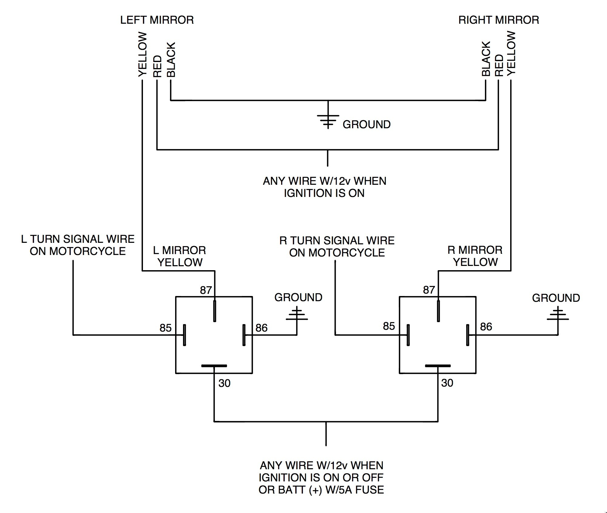 Signal Light Flasher Wiring Diagram Adding Rivco Led Mirrors to A Victory Cross Country Motorcycle Of Signal Light Flasher Wiring Diagram