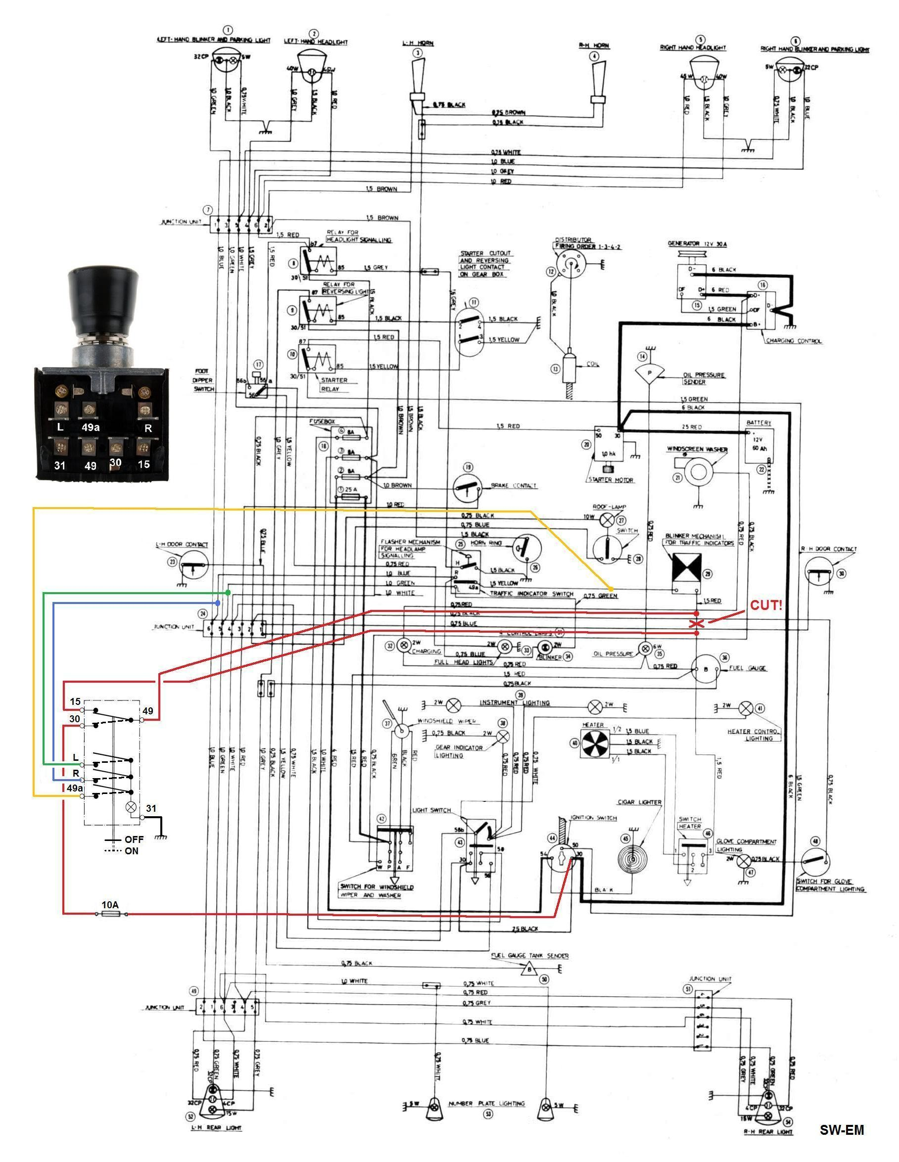 Signal Light Flasher Wiring Diagram Sw Em Emergency My Of