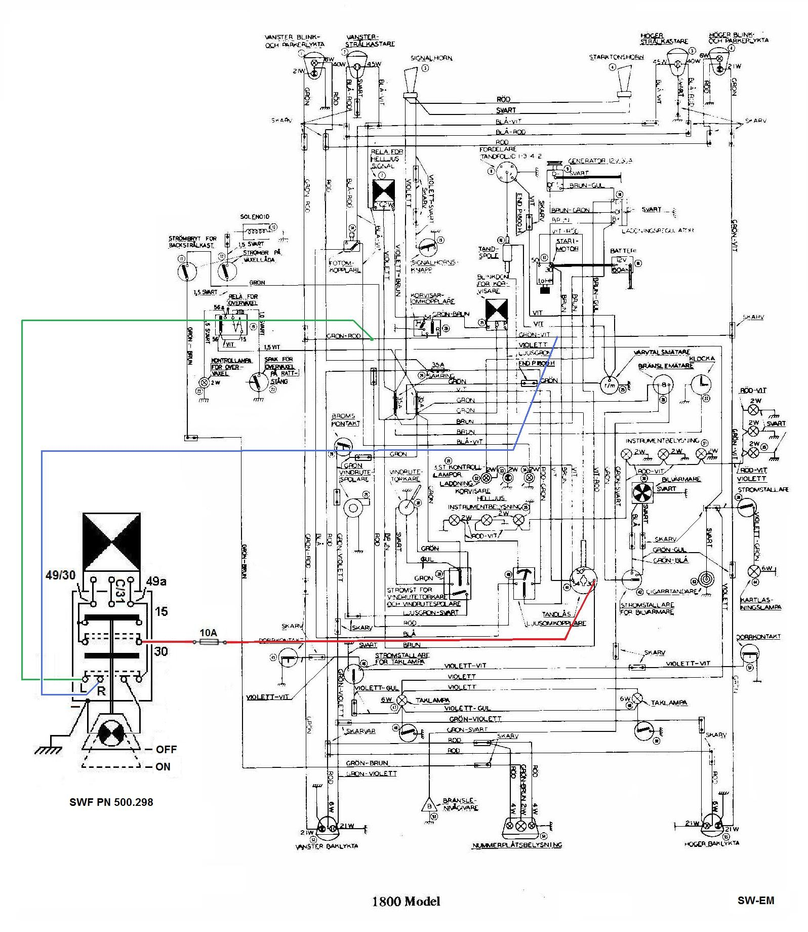 Signal Light Flasher Wiring Diagram Ford Truck Technical Drawings And Schematics Section H Sw Em Emergency Of