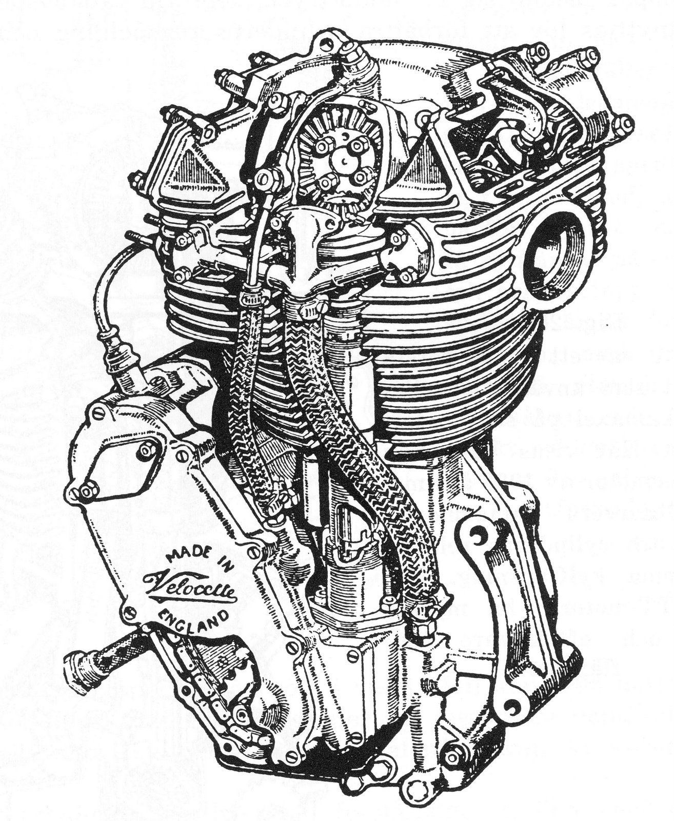 Single Cylinder Motorcycle Engine Diagram My Wiring Art Velocette Owners Club Dorking Centre Plete List Of All Manufacturers Wide