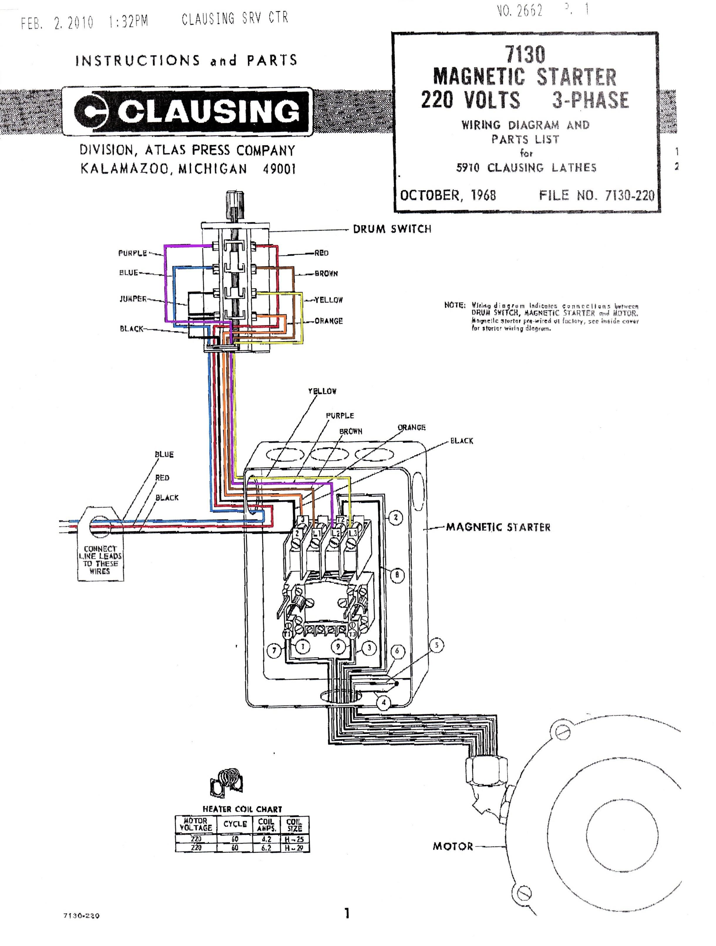 Single Phase Motor Starter Wiring Diagram 240v Single Phase Motor