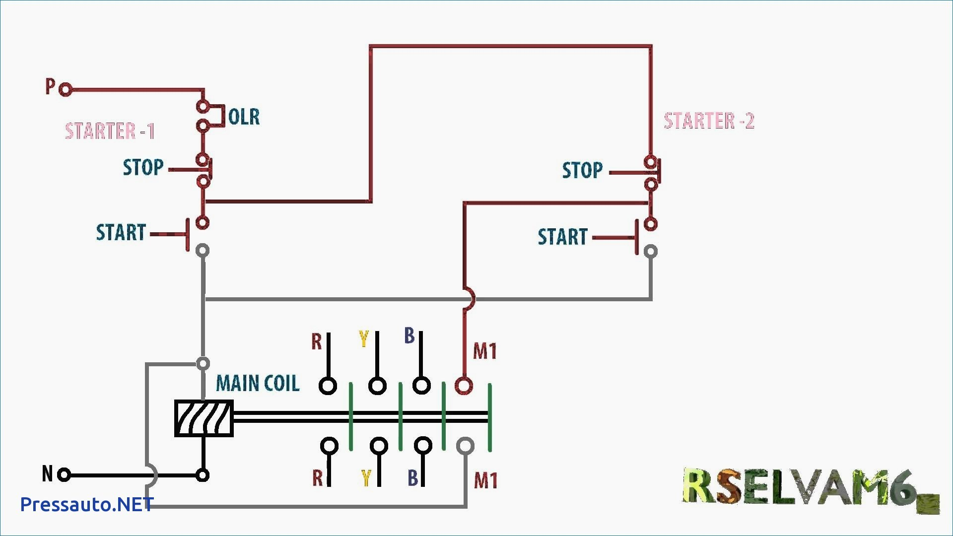 Single Phase Reversing Motor Starter Wiring Diagram from detoxicrecenze.com