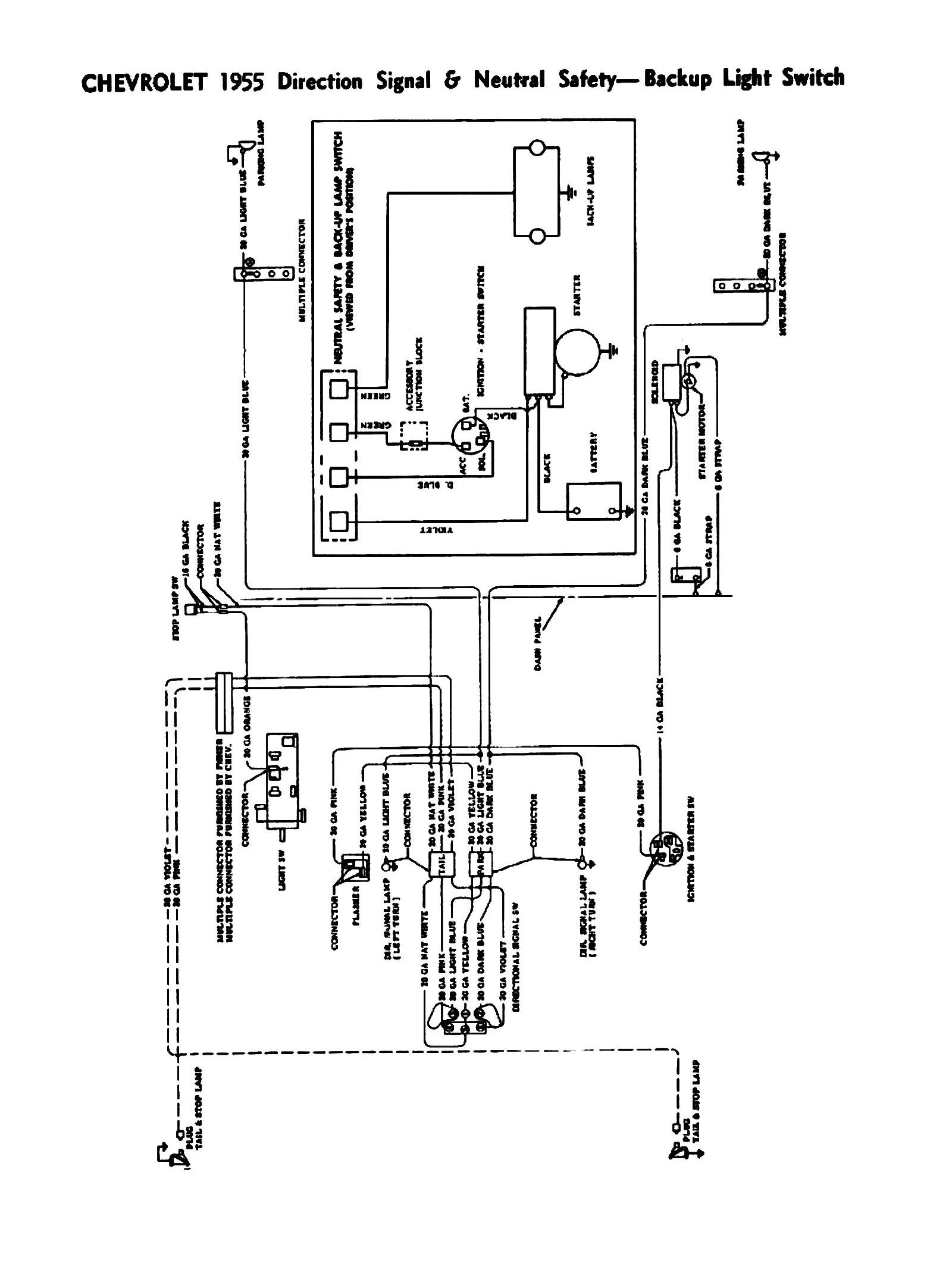 wiring diagram for 1955 chevy