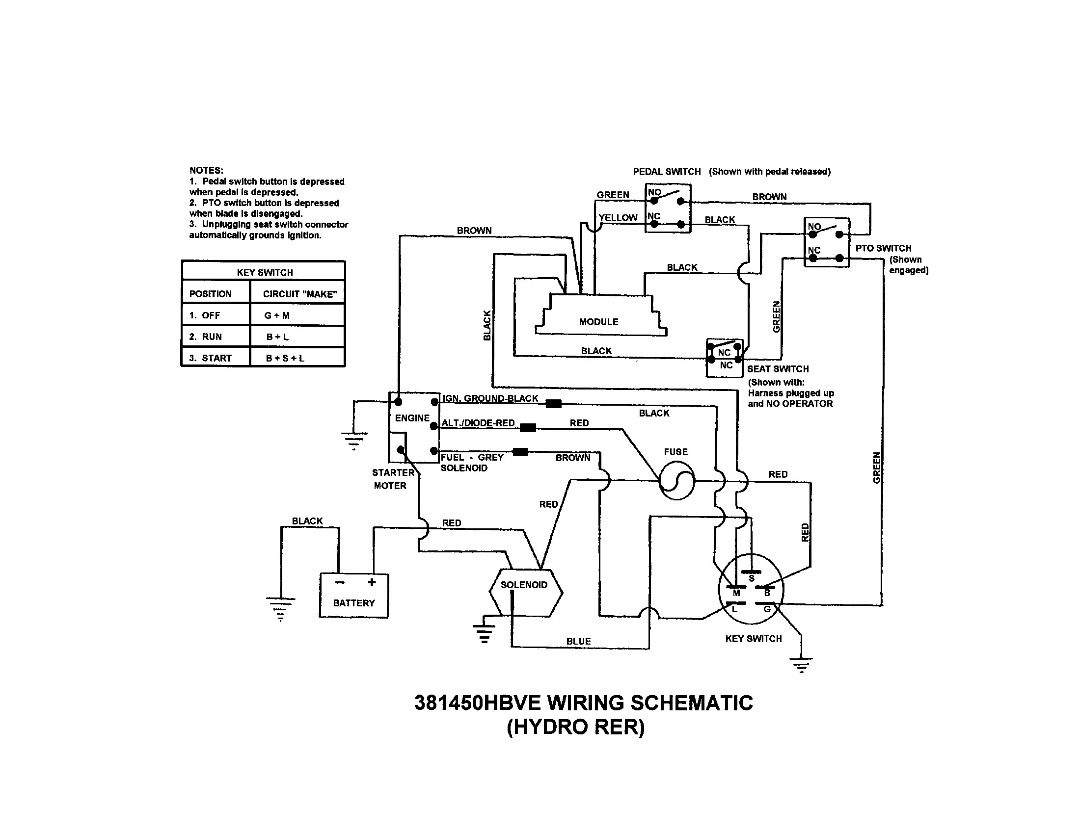 Snapper Sr1028 Wiring Diagram