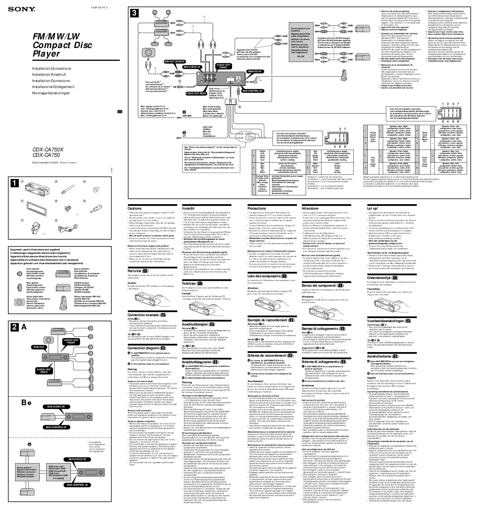 Sony Cdx Gt520 Car Stereo Wiring Diagram Trusted Kia Gt130 Manual Model Mo Library