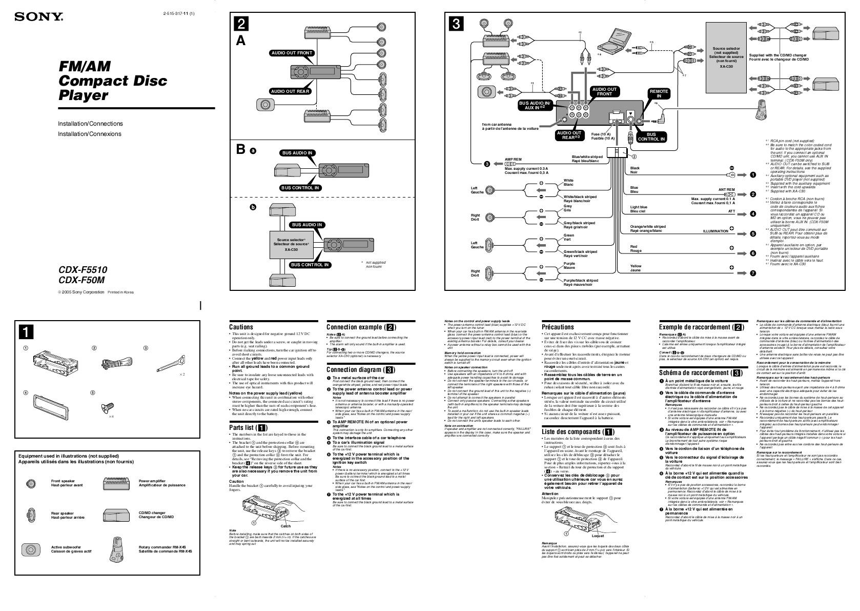 Sony Xplod Car Stereo Wiring Diagram Manual Library Radio Needs Free 52wx4 Pdf