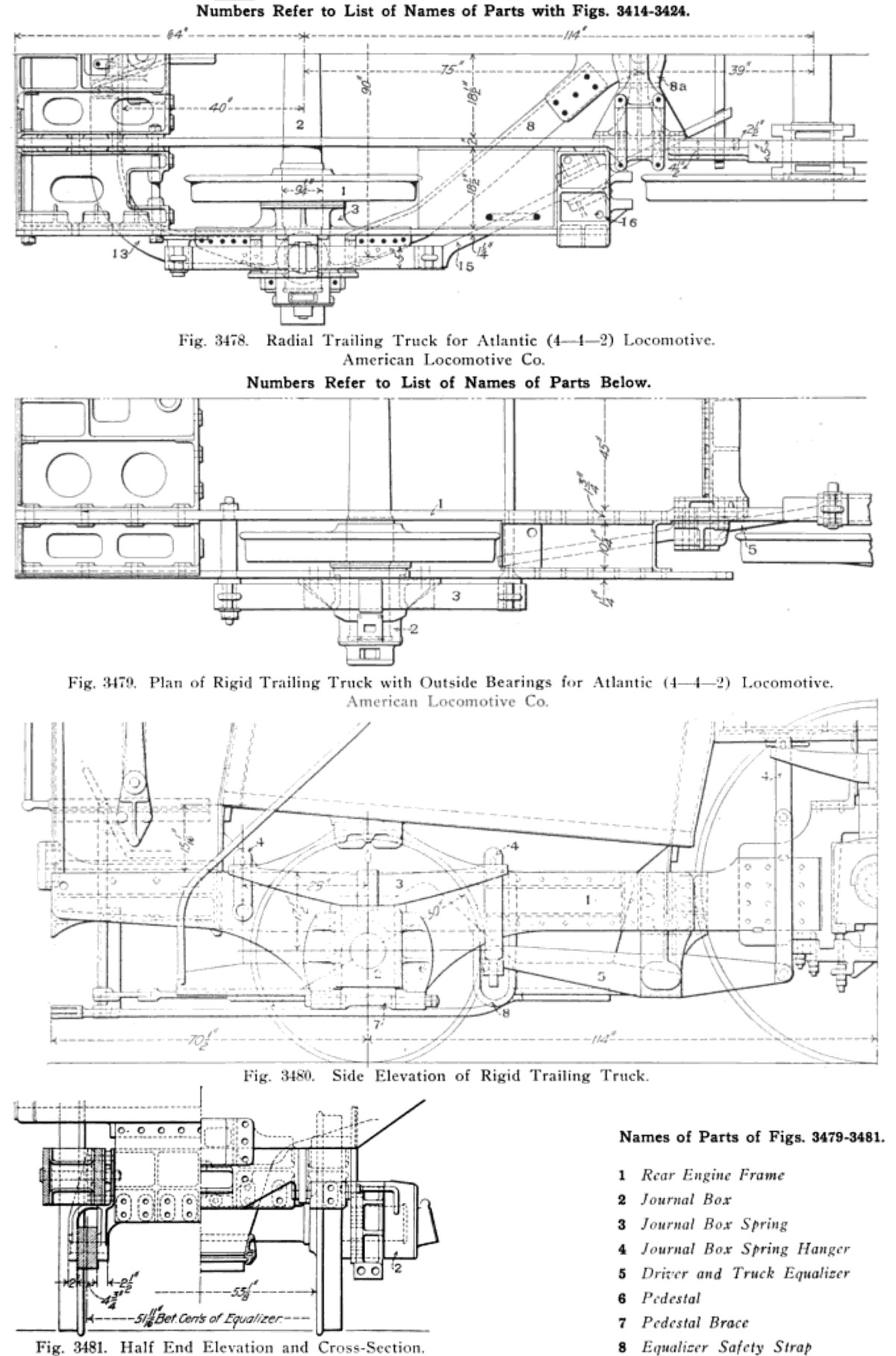 Steam Engine Parts Diagram 1200px Lo Otive Trailing Truck 1200—1815 Of Steam Engine Parts Diagram