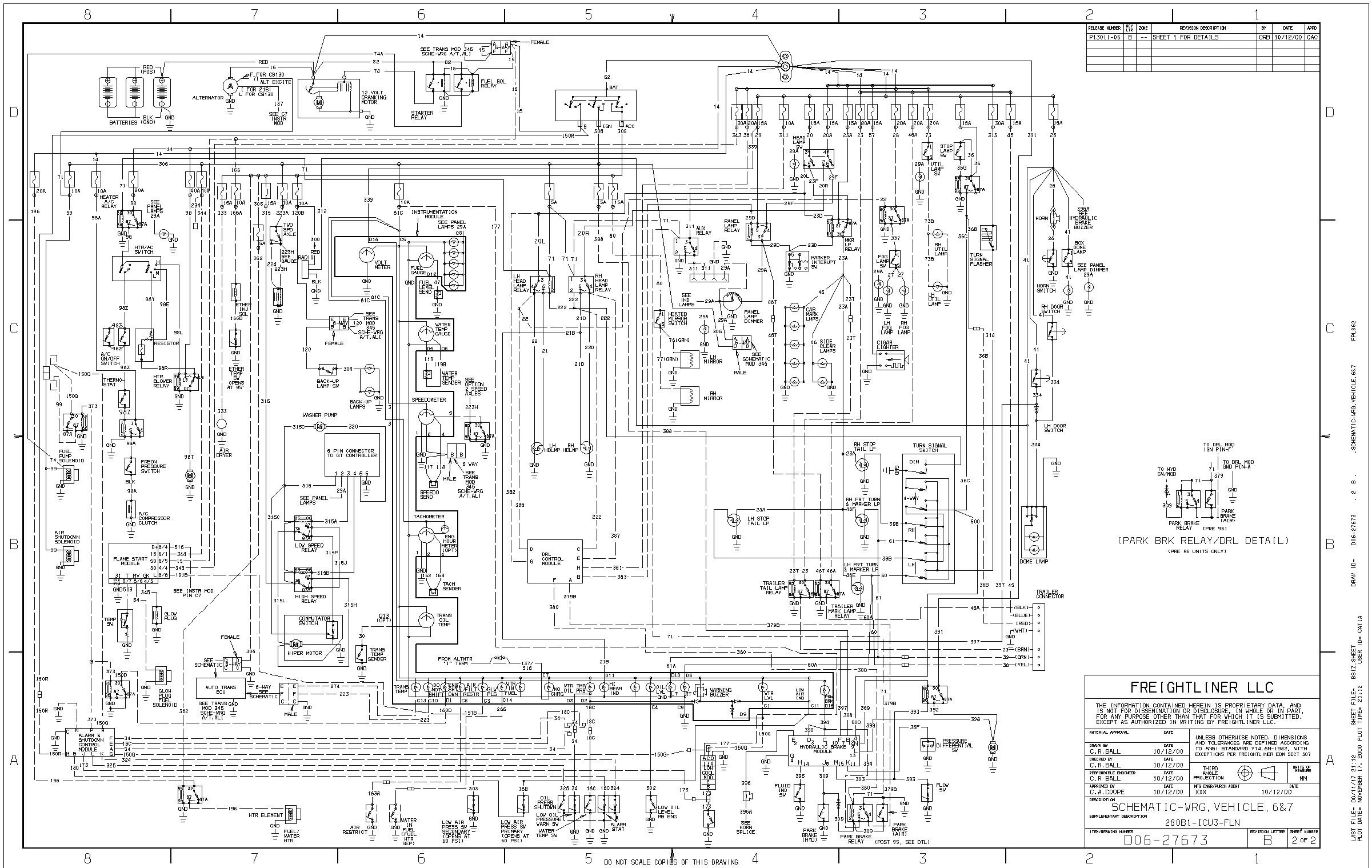 2000 sterling truck wiring diagram example electrical wiring diagram u2022 rh newwiringdiagram today Wiring Diagram 2000 Sterling Dump Truck Trailer Plug Wiring Diagram for 2000 Sterling Truck