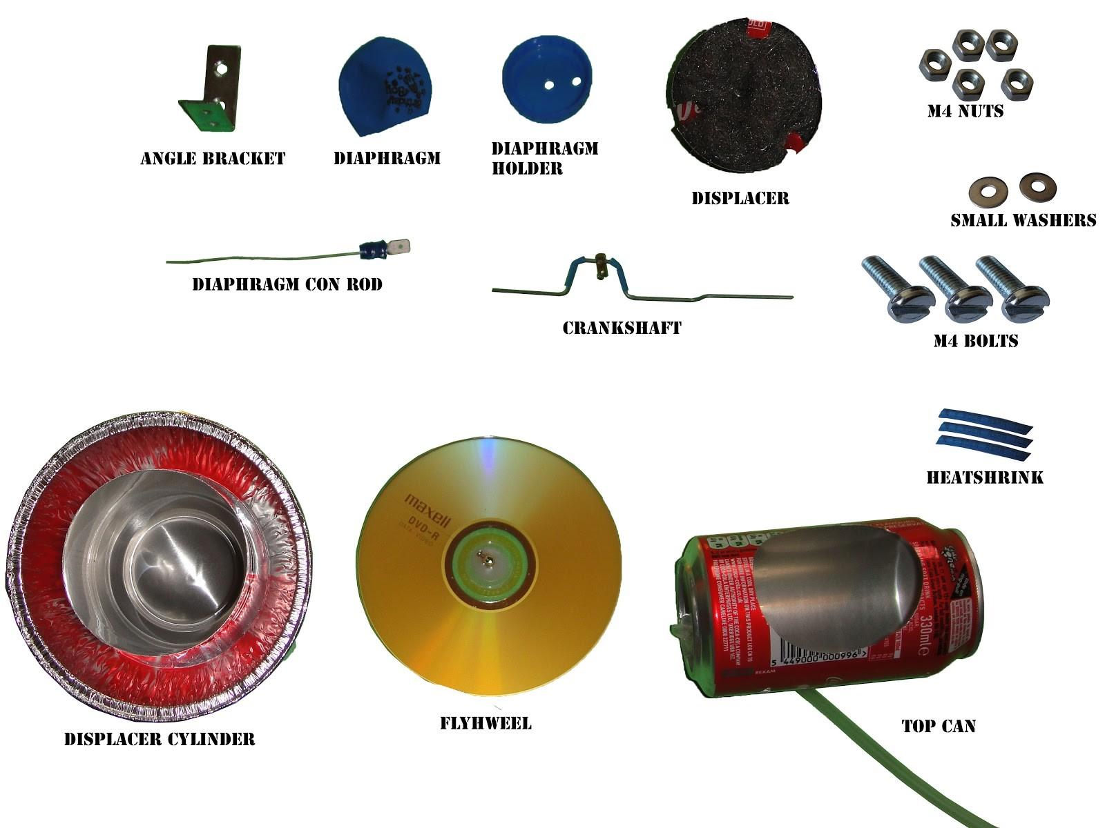 Stirling Engine Diagram Stirling Engine Kit assembly Instruction Scrap to Power Of Stirling Engine Diagram