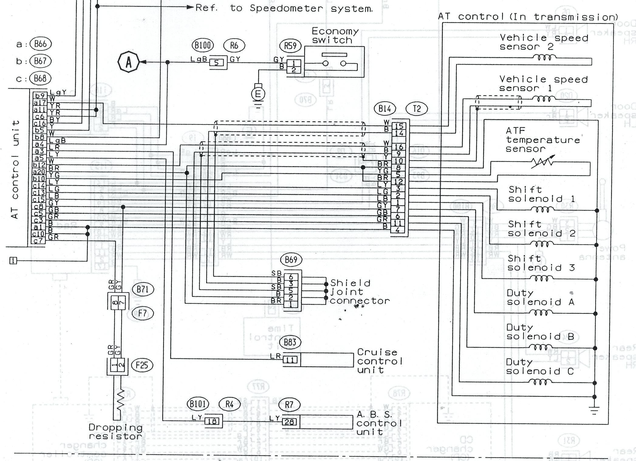 1996 subaru legacy outback engine diagram