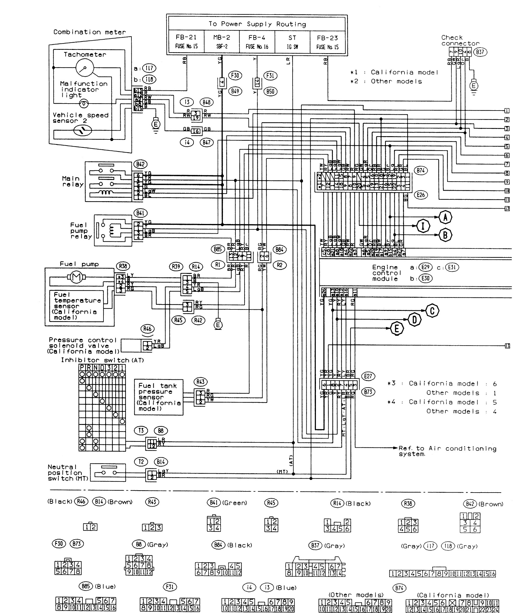 subaru legacy engine diagram