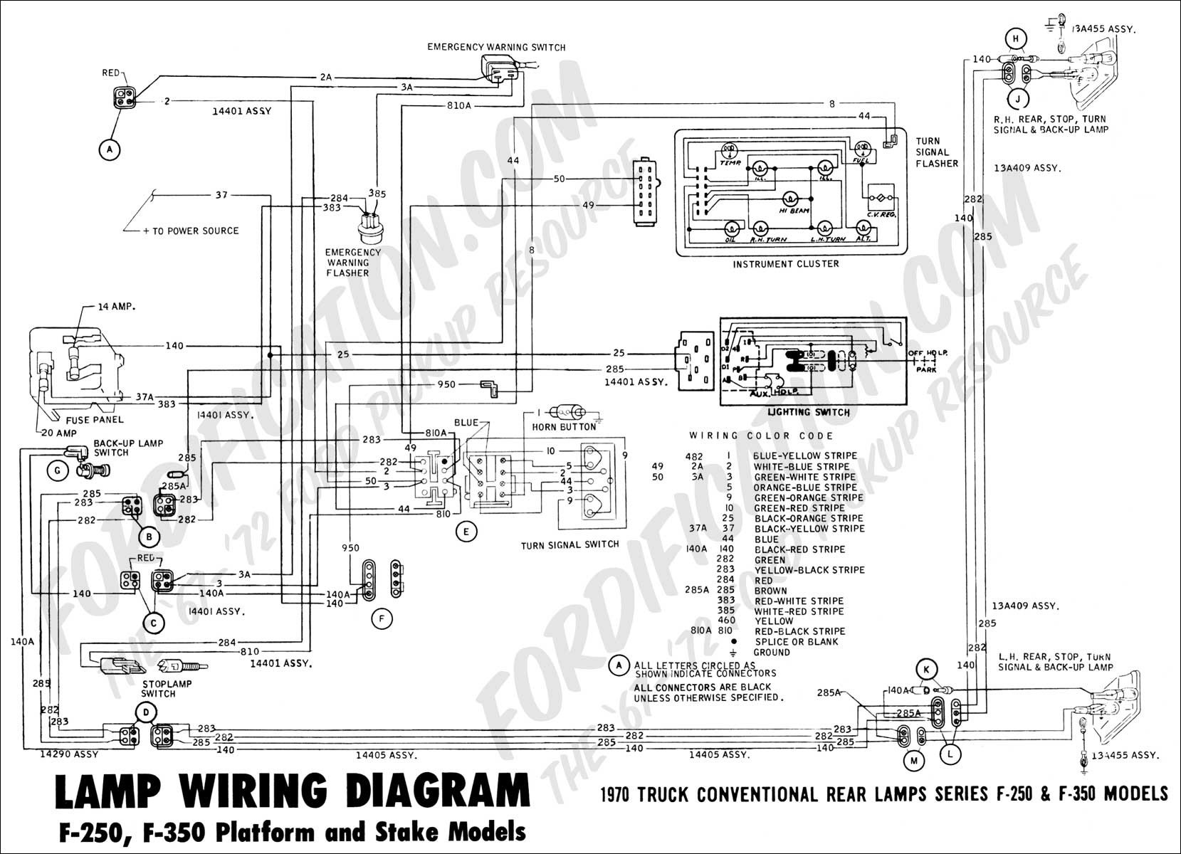 1982 f150 tail light wiring