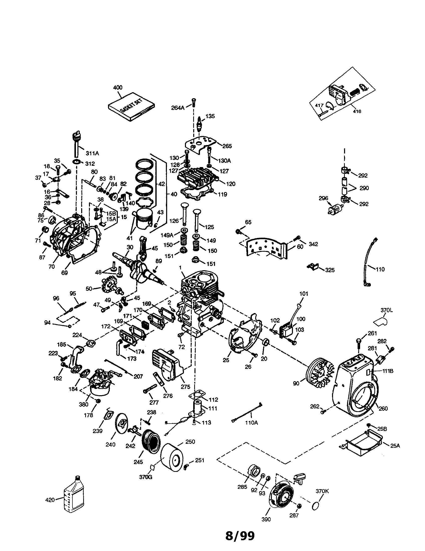 tecumseh engine carburetor diagram tecumseh model hm100 p engine rh detoxicrecenze com Tecumseh Engine Parts Tecumseh Engine Parts