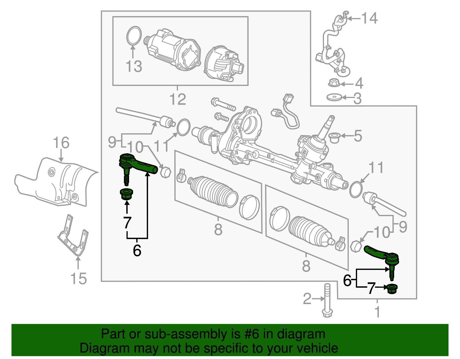 Tie Rod End Diagram Gm Oem Steering Gear Outer Tie Rod End Of Tie Rod End Diagram