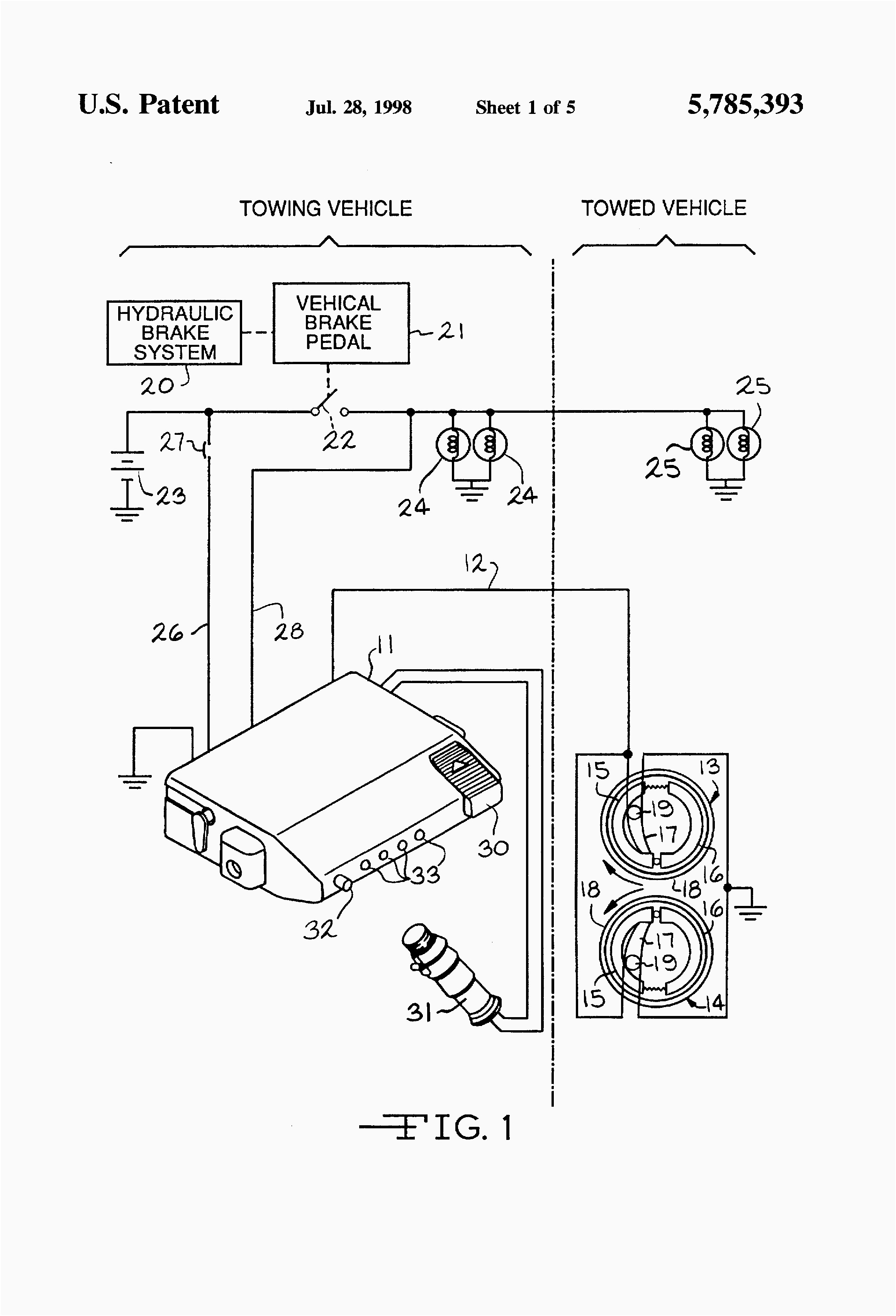 Trailer Breakaway Battery Wiring Diagram Electric Trailer Brakes ...