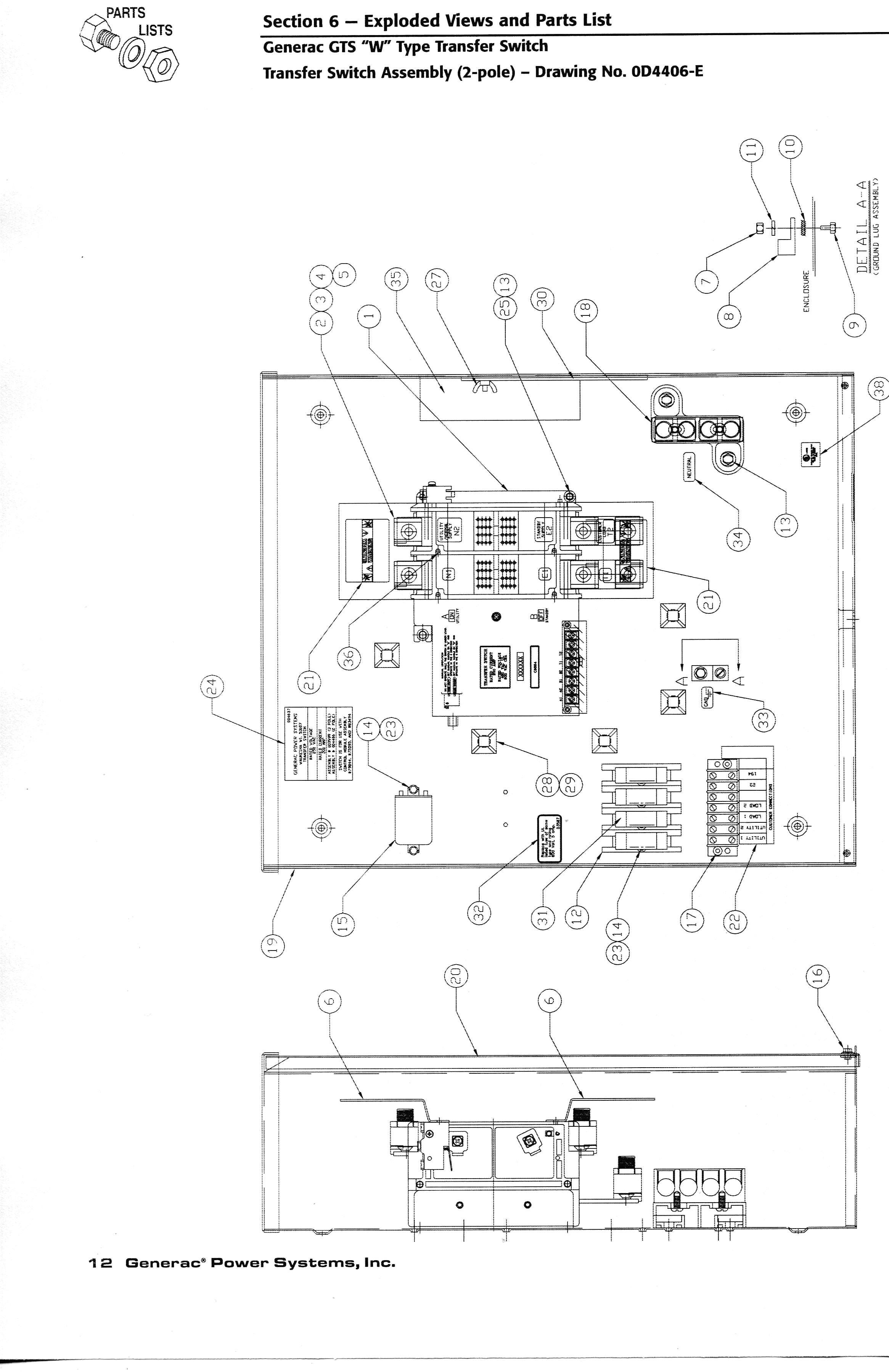 Transfer Switch Wiring Diagram Generac Automatic Transfer Switch Wiring Diagram Wiring Diagram Of Transfer Switch Wiring Diagram