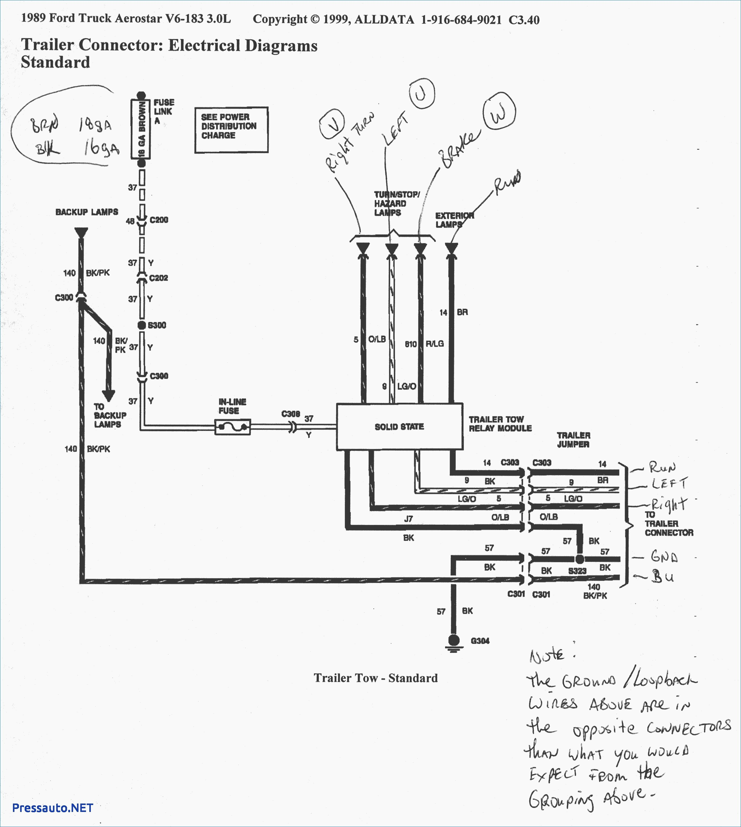 Pickup Trailer Wiring Diagram Download Free Pressauto NET Beautiful