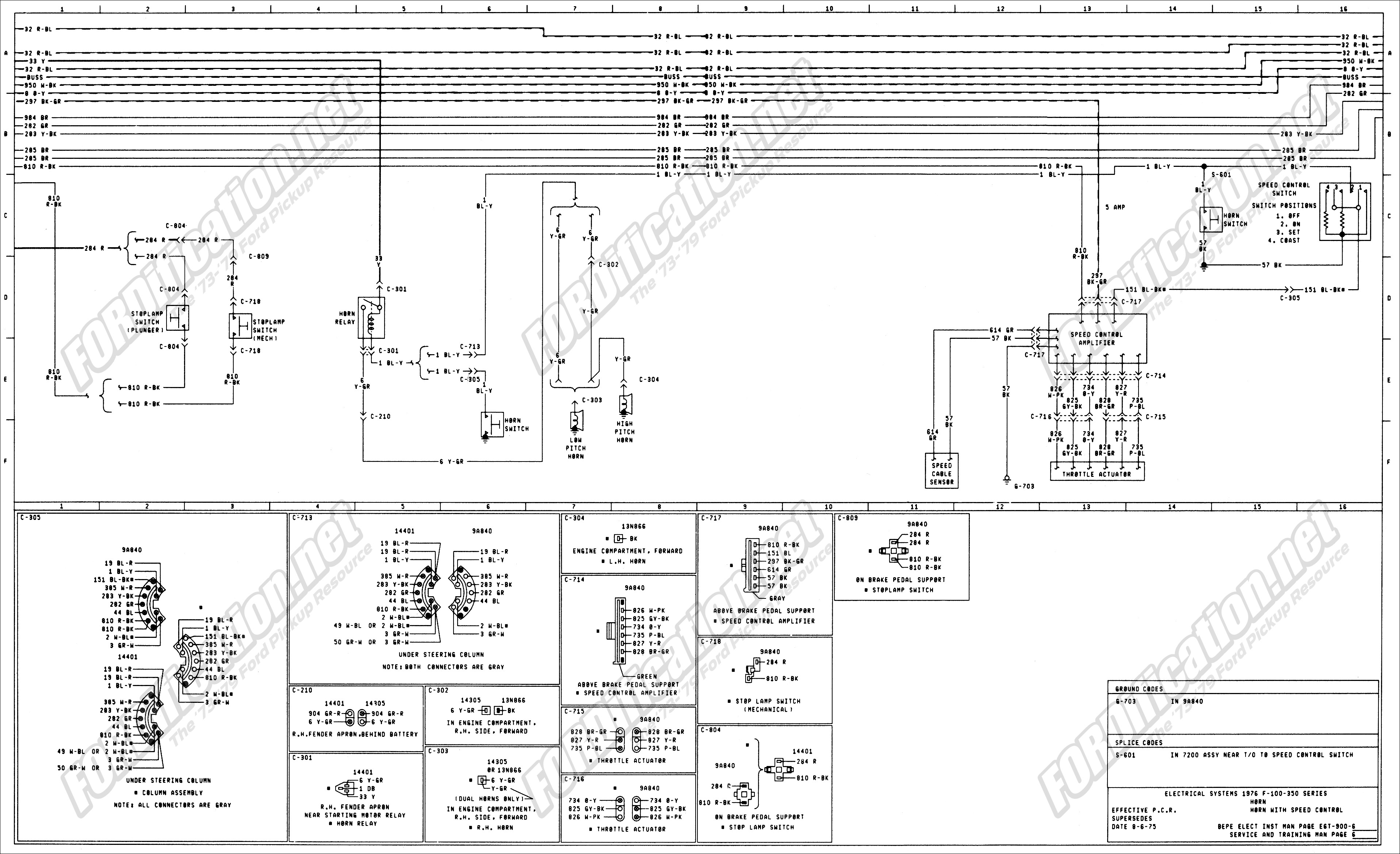 Turn Signal Wire Diagram 1973 1979 ford Truck Wiring Diagrams & Schematics fordification Of Turn Signal Wire Diagram