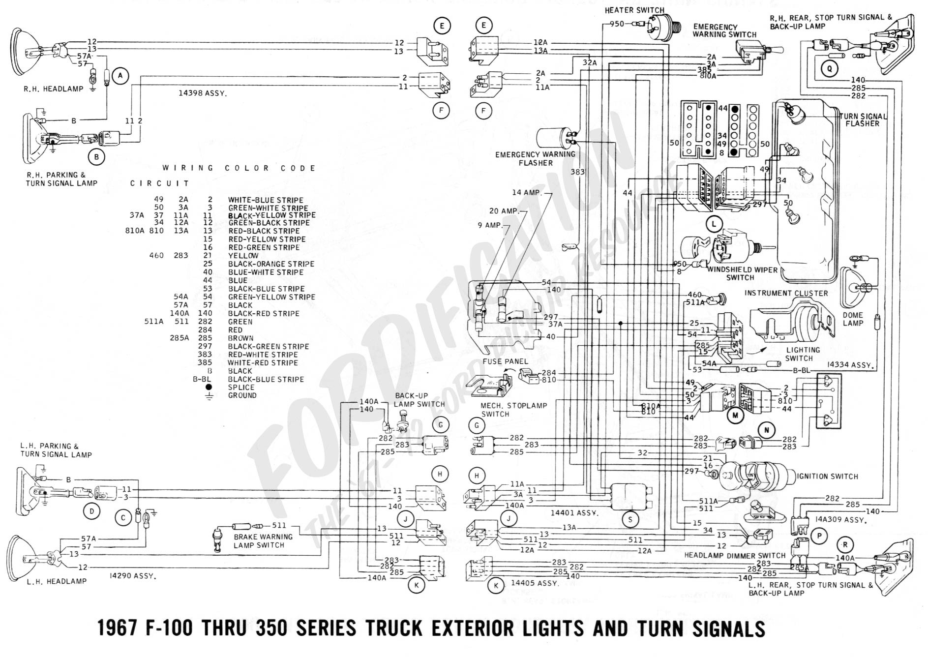 turn signal wire diagram ford truck technical drawings and schematics section h wiring of turn signal wire diagram 1972 ford pickup wiring schematic best wiring library