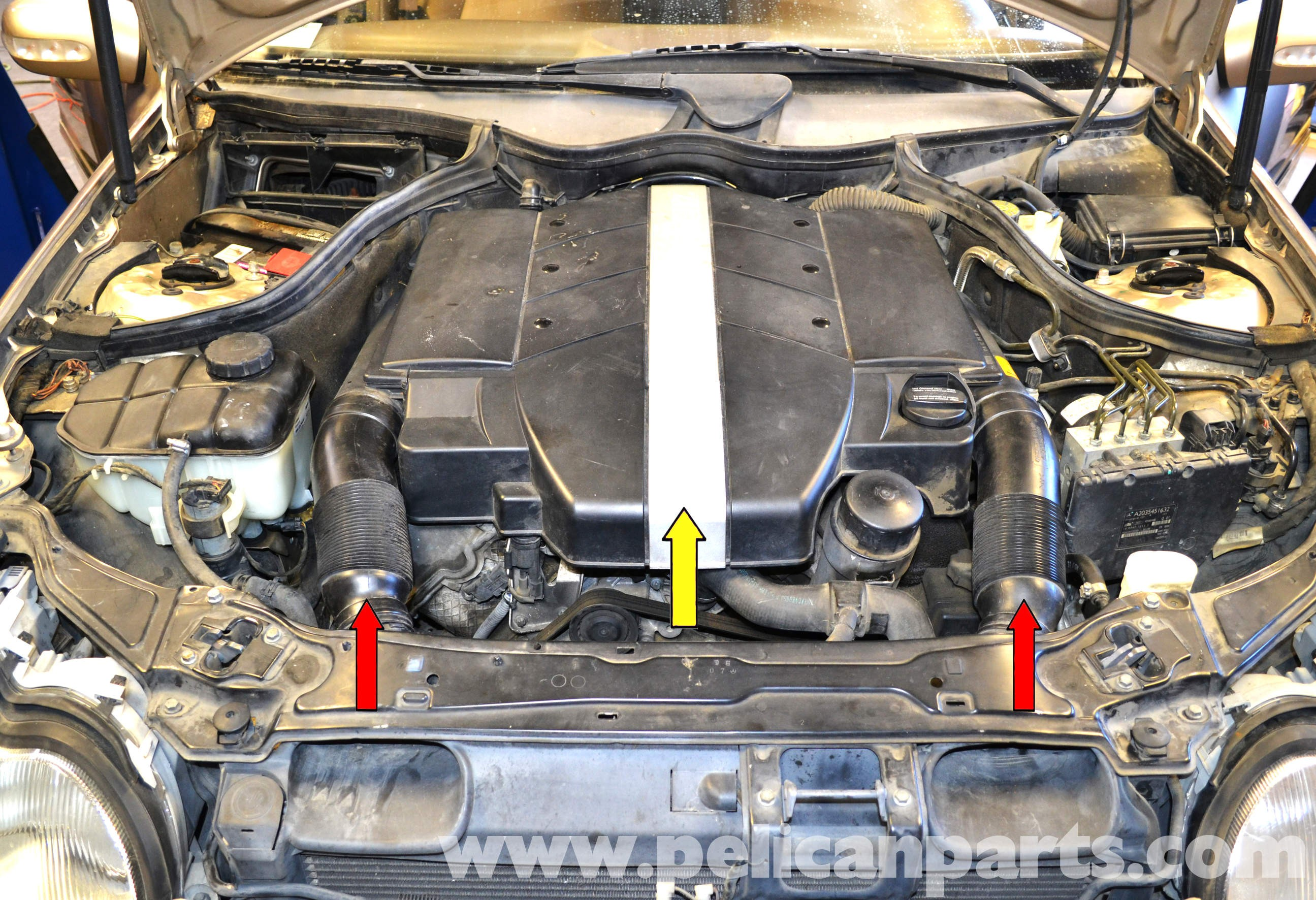 Under Car Hood Diagram Mercedes Benz W203 Radiator Replacement 2001 ...