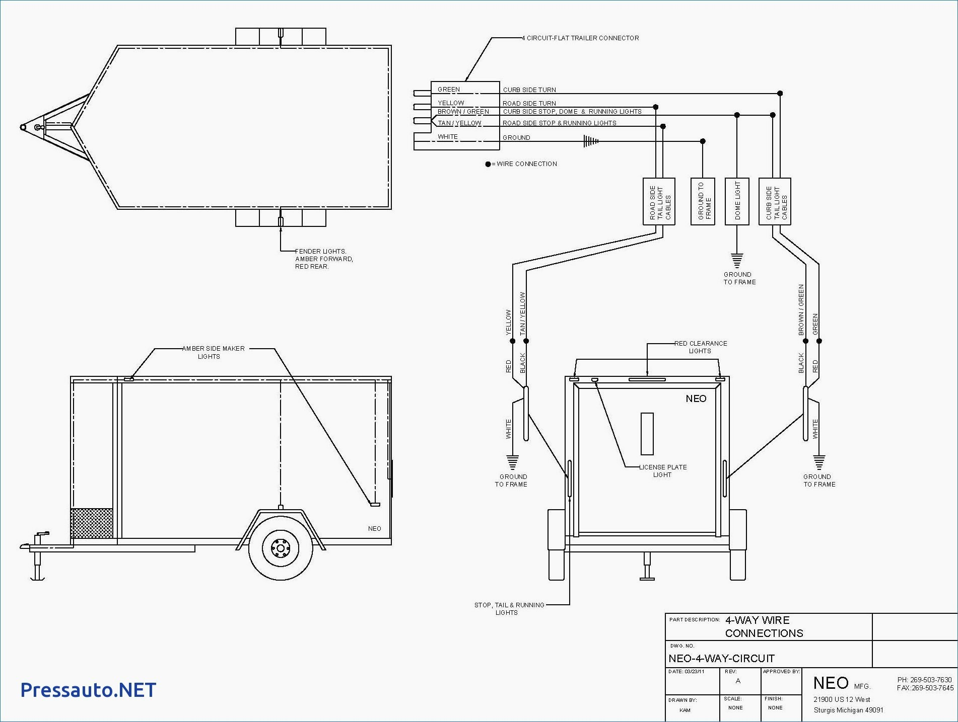 utility trailer lights wiring diagram