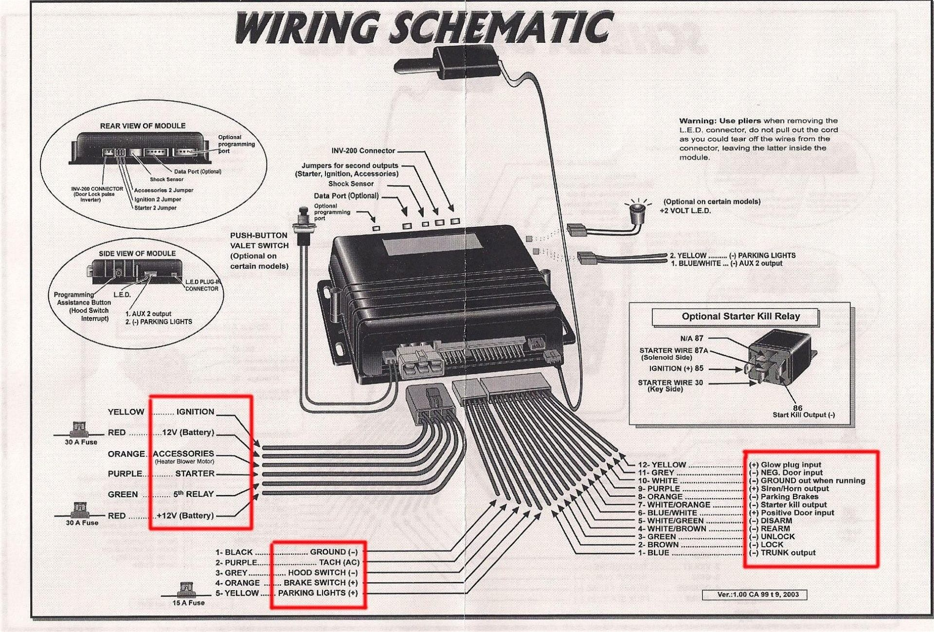 Wiring Diagram For Car Alarm : Viper alarm system wiring diagram million