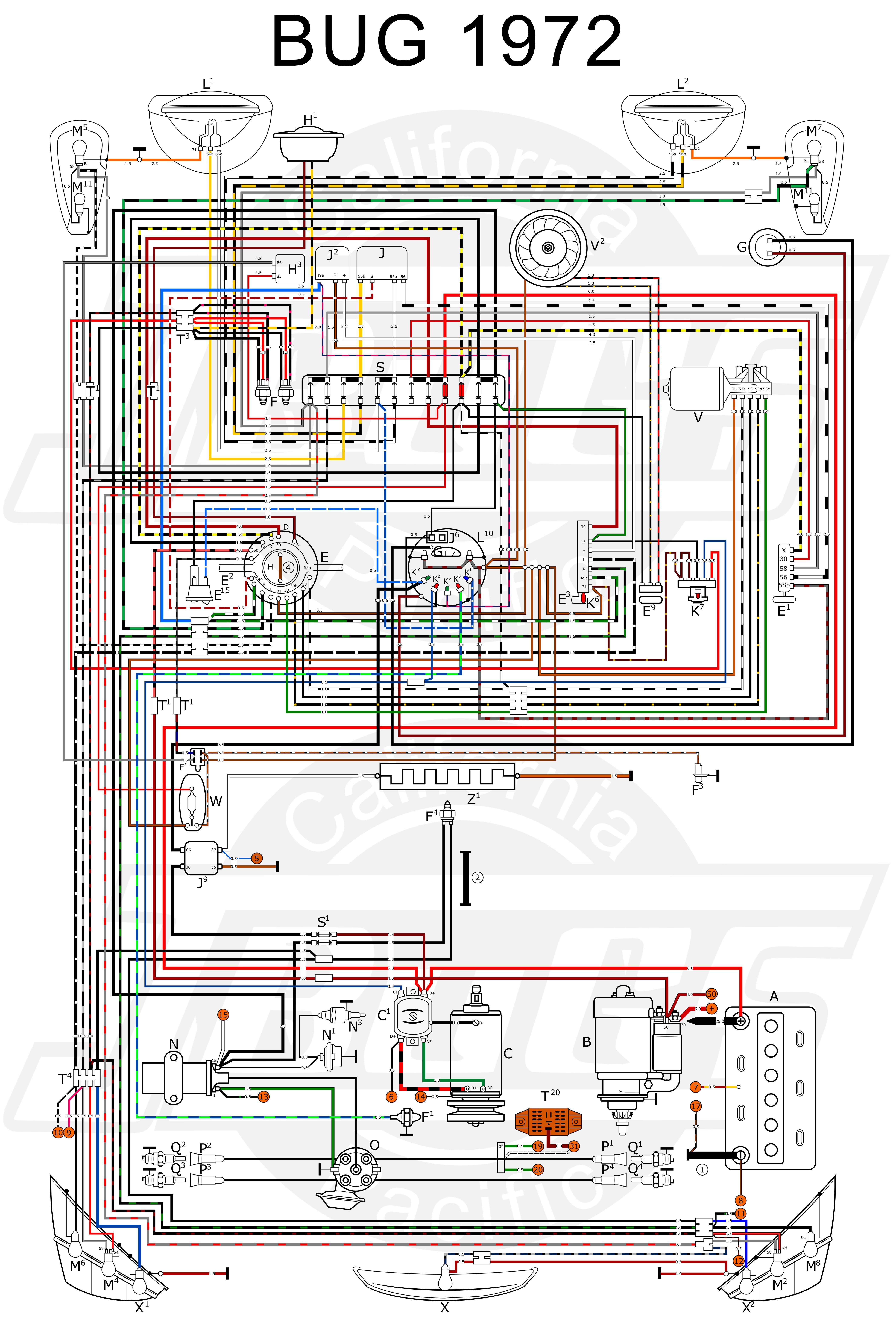 Vw Engine Diagram Wiring In Color 1964 Bug Beetle Rh Detoxicrecenze  Starter: 1600 Vw Starter
