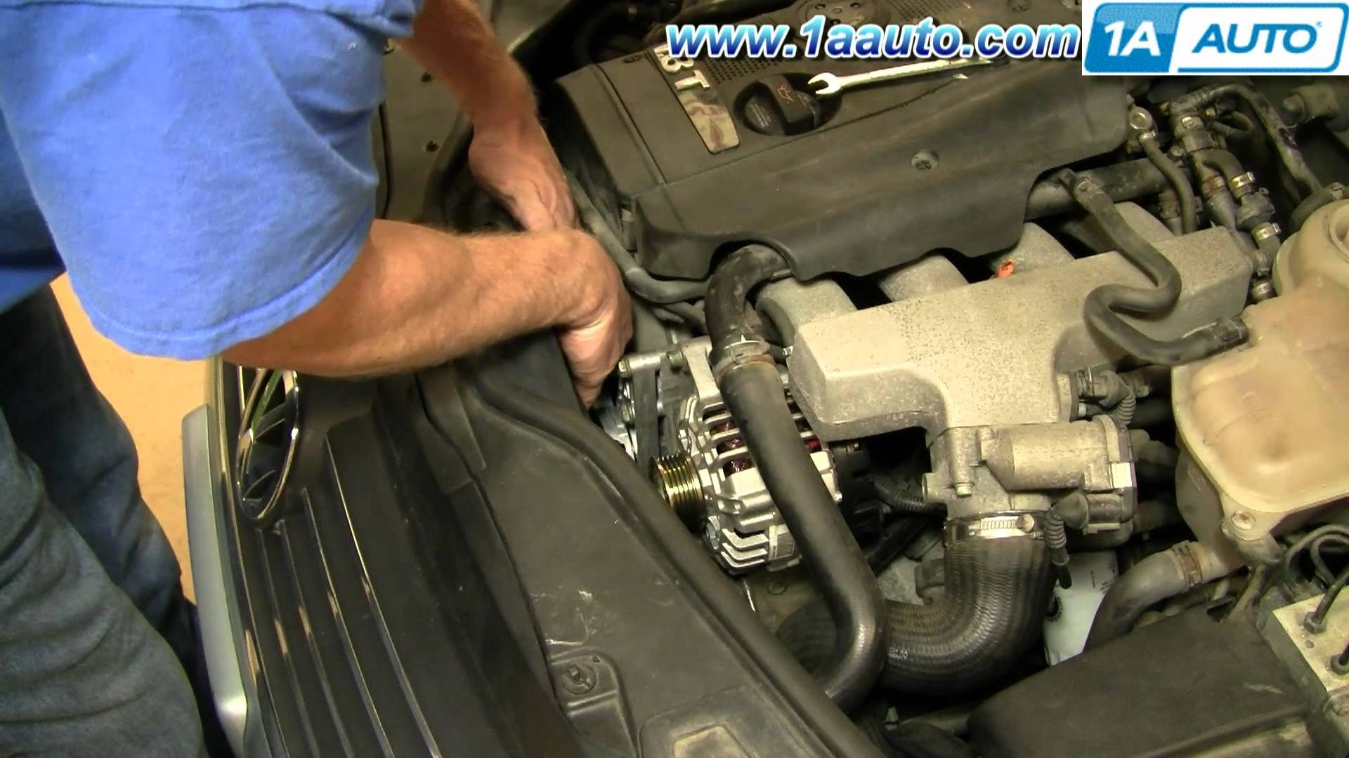 How To Install Replace Alternator Power Steering Engine Belt Volkswagen  Passat 1 8T 1AAuto